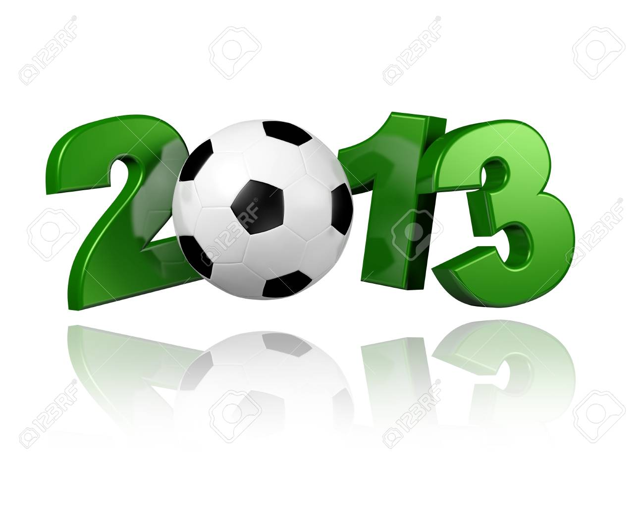 Football 2013 with a White Background - 13963403
