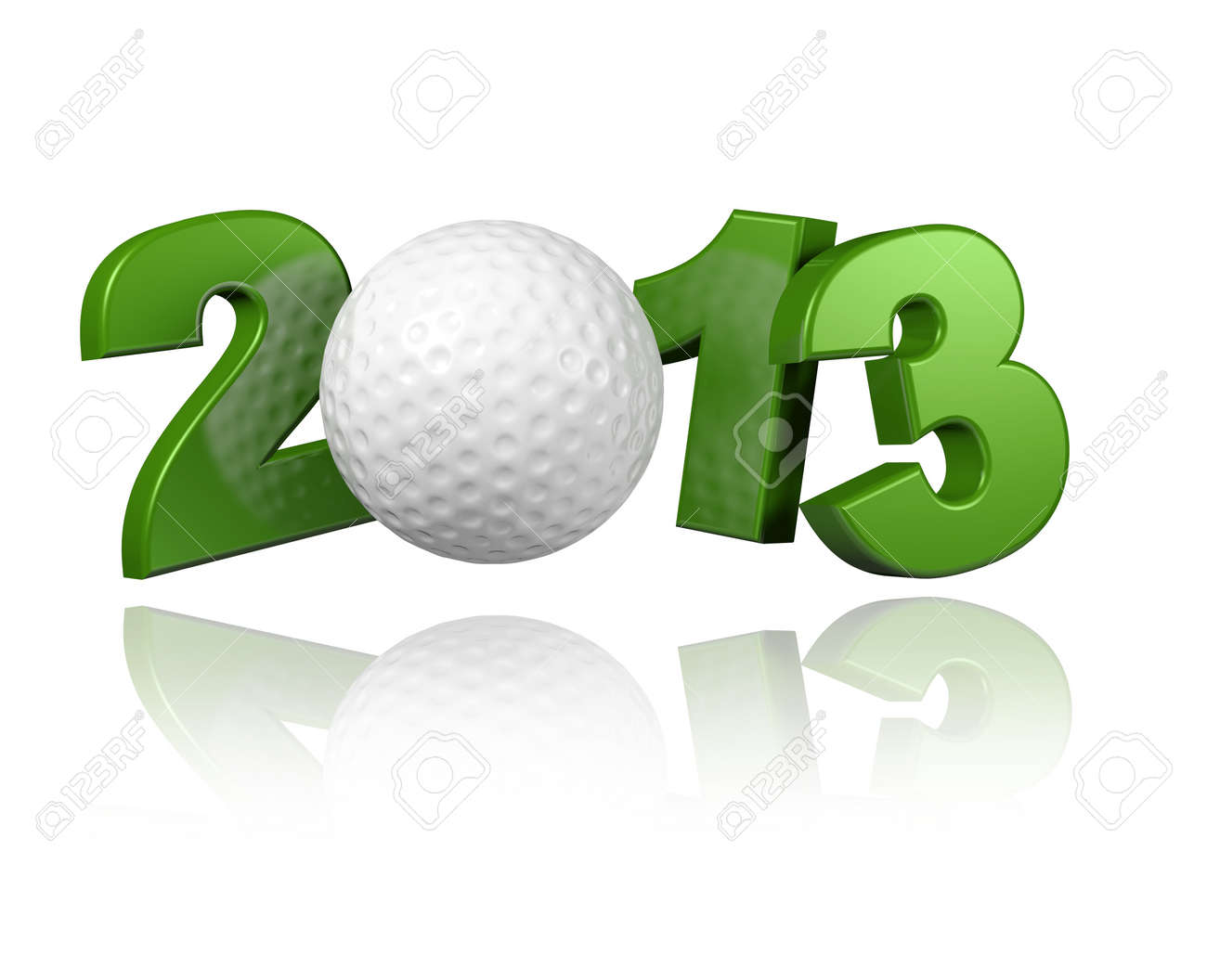 Golf 2013 with a White Background - 13983858