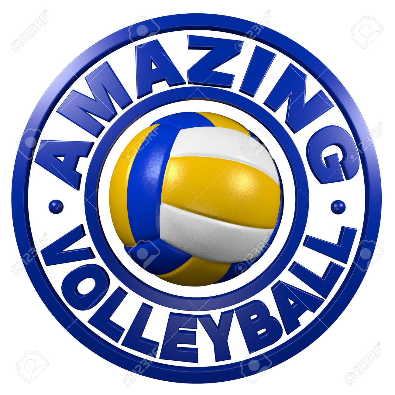 Amazing Volleyball circular design with a white background - 15617894