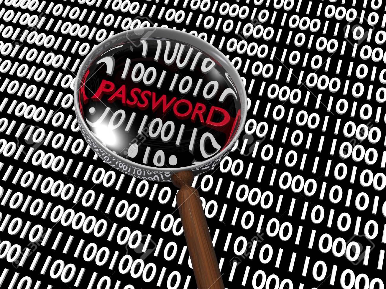 Hidden Numeric Password in Plenty of Binary Digits Stock Photo - 16488125