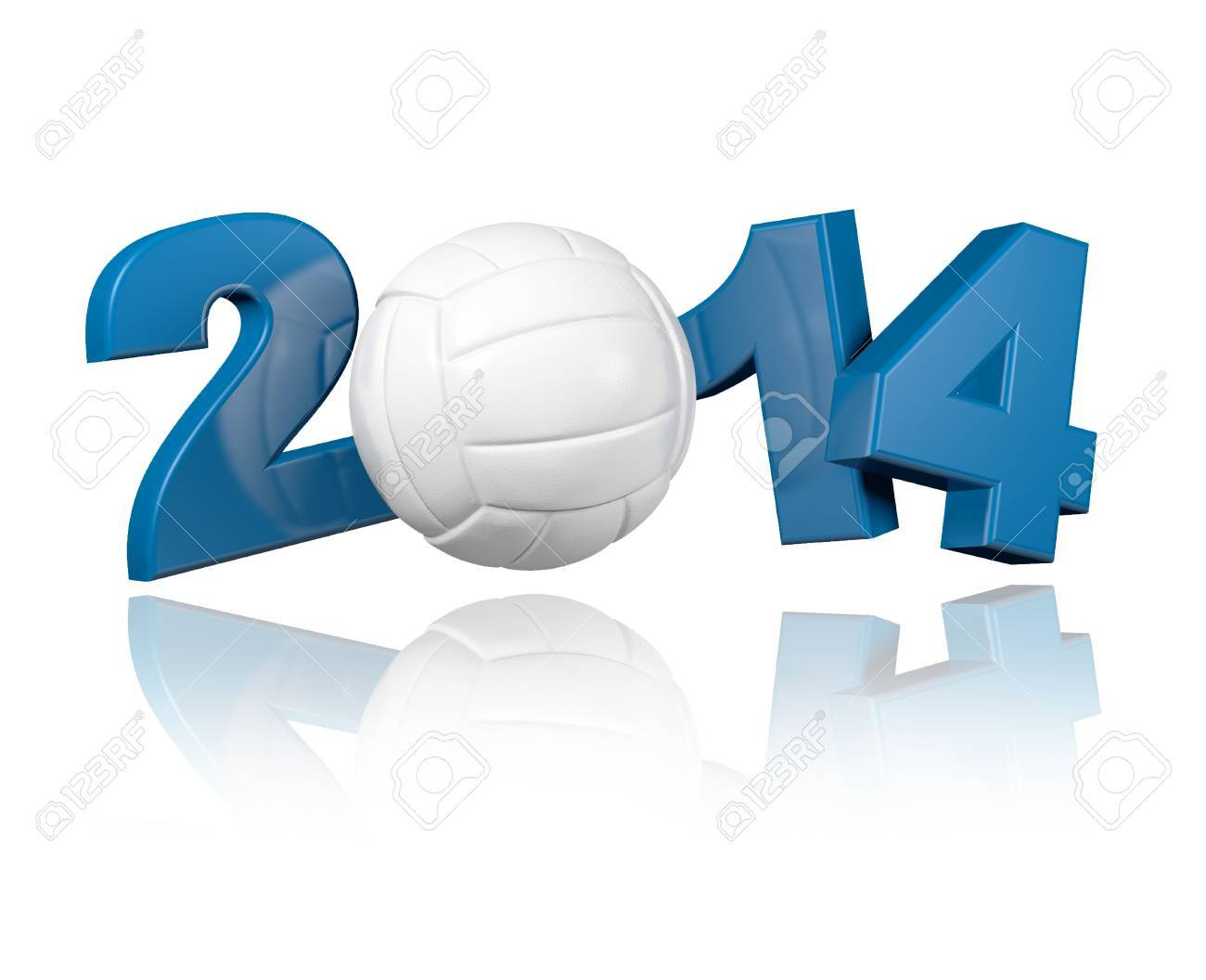Volleyball 2014 design with a White Background - 18406598