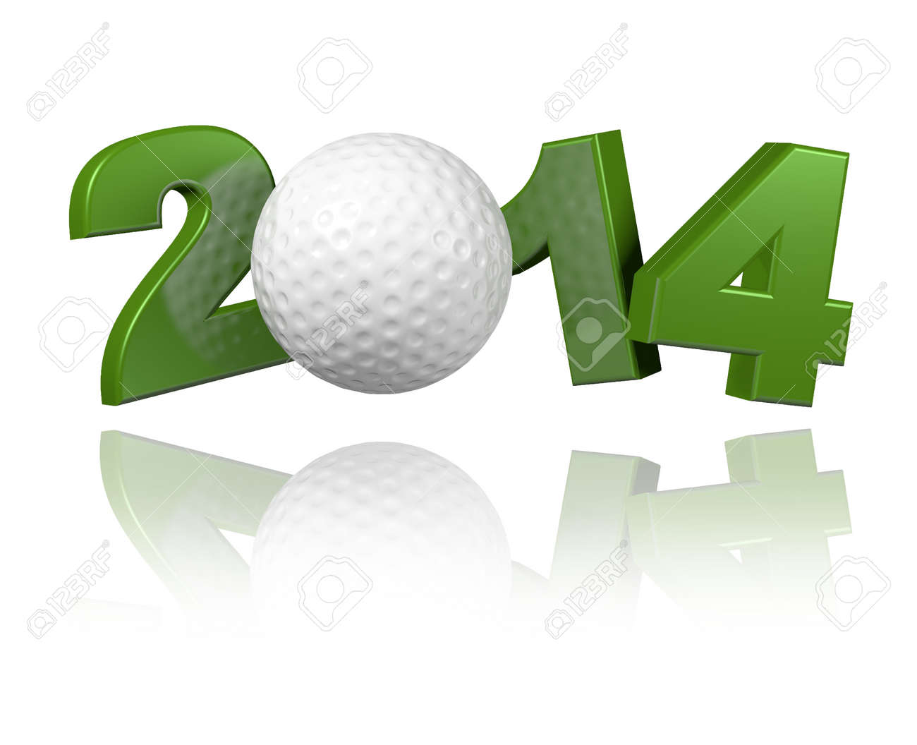 Golf 2014 design with a White Background - 23283405