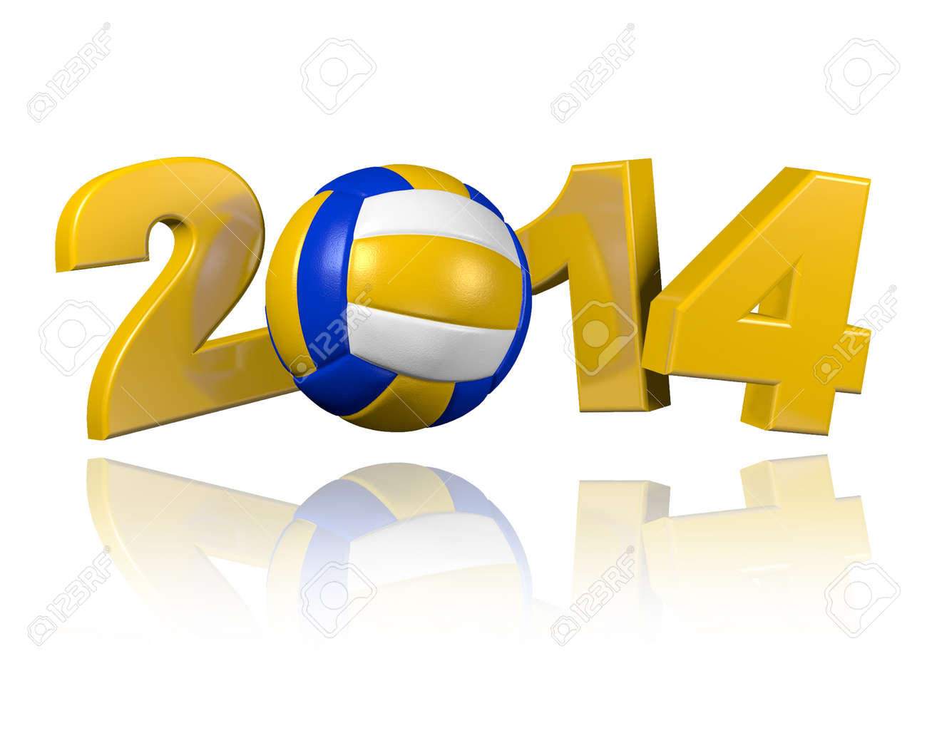 Beach Volleyball 2014 design with a White Background - 23284764