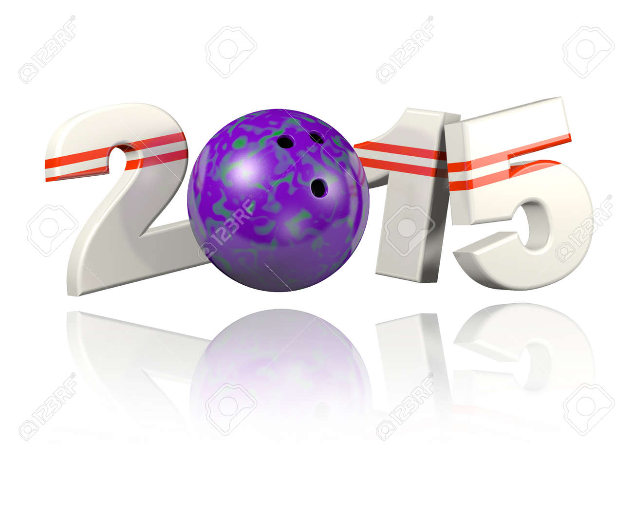 Bowling 2015 design with a White Background - 32454589
