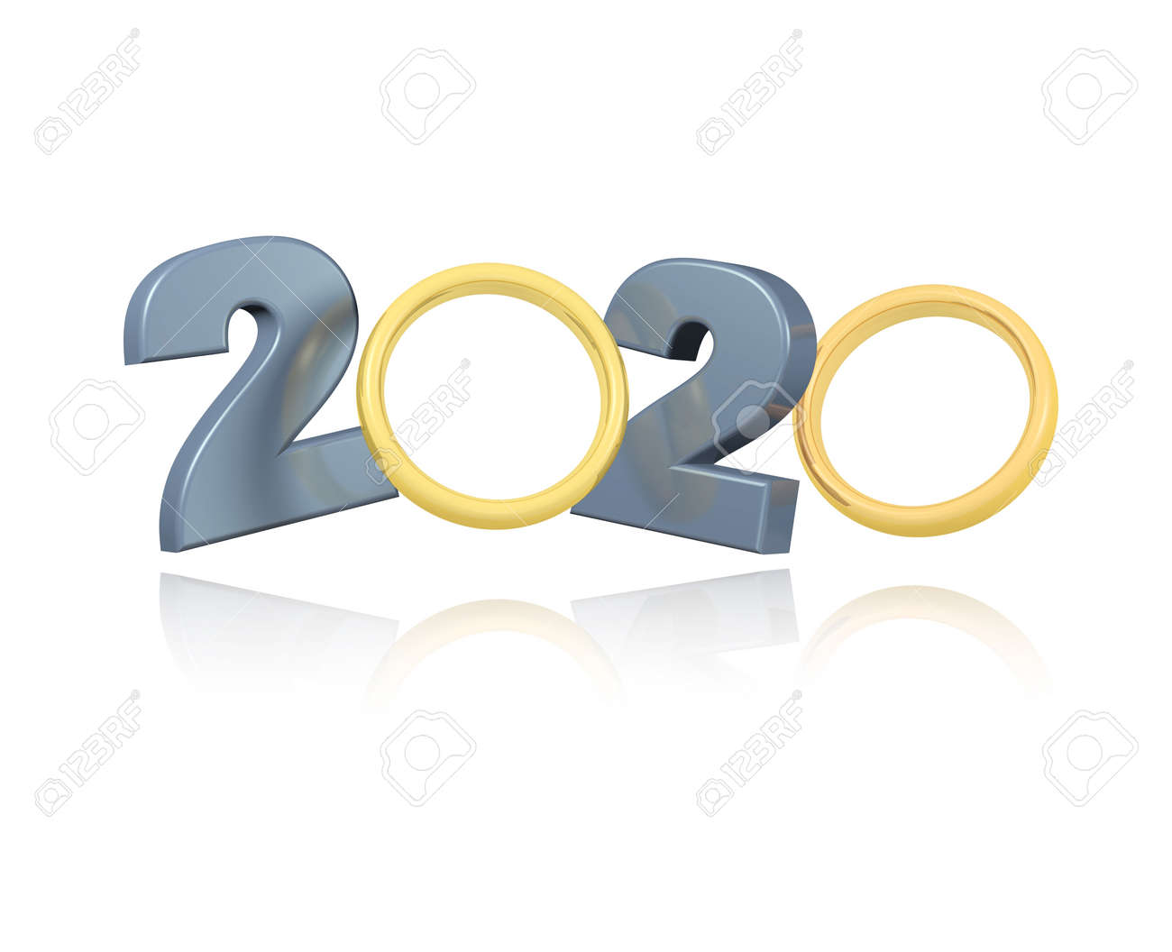 Gold Wedding Rings 2020 Design With A White Background Stock Photo Picture And Royalty Free Image Image 125484514