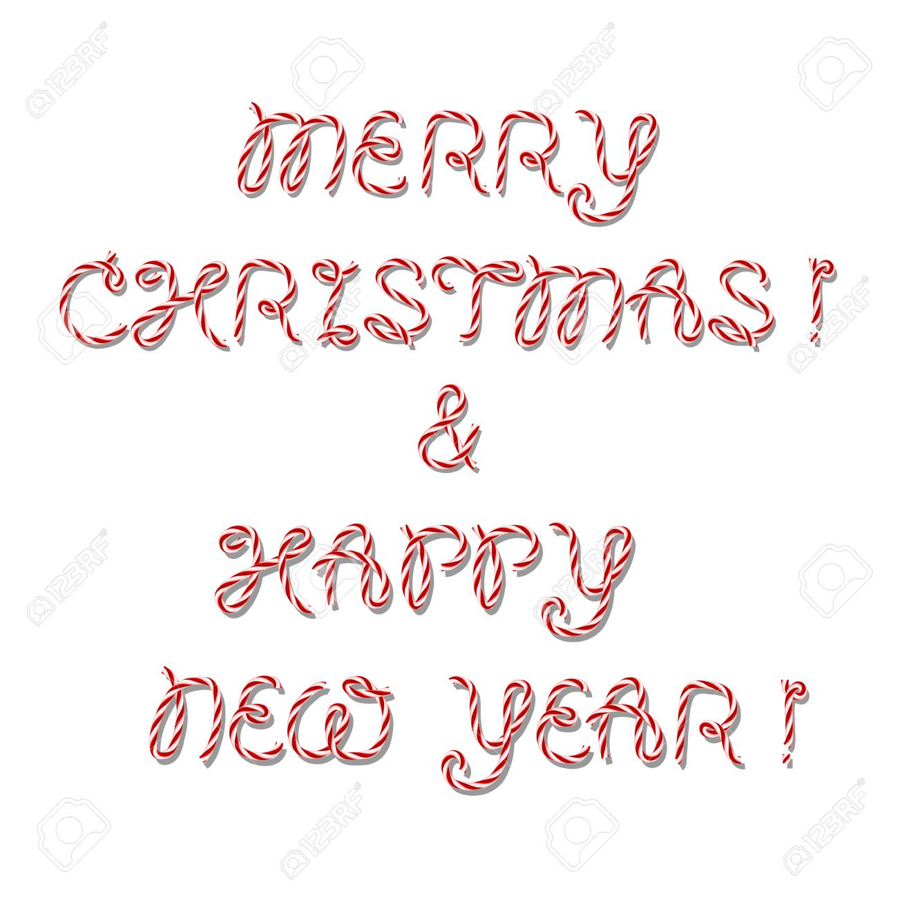 Merry Christmas And Nappy New Year Greeting Inscription In Twine ...