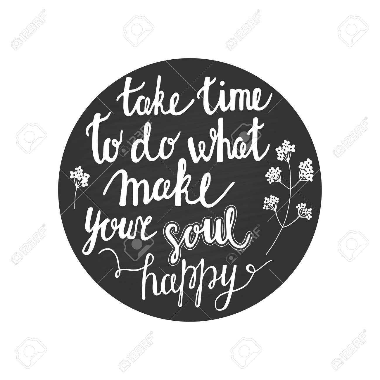 Inspiration Hand Schriftliches Angebot über Zeit Und Seele Auf Tafel