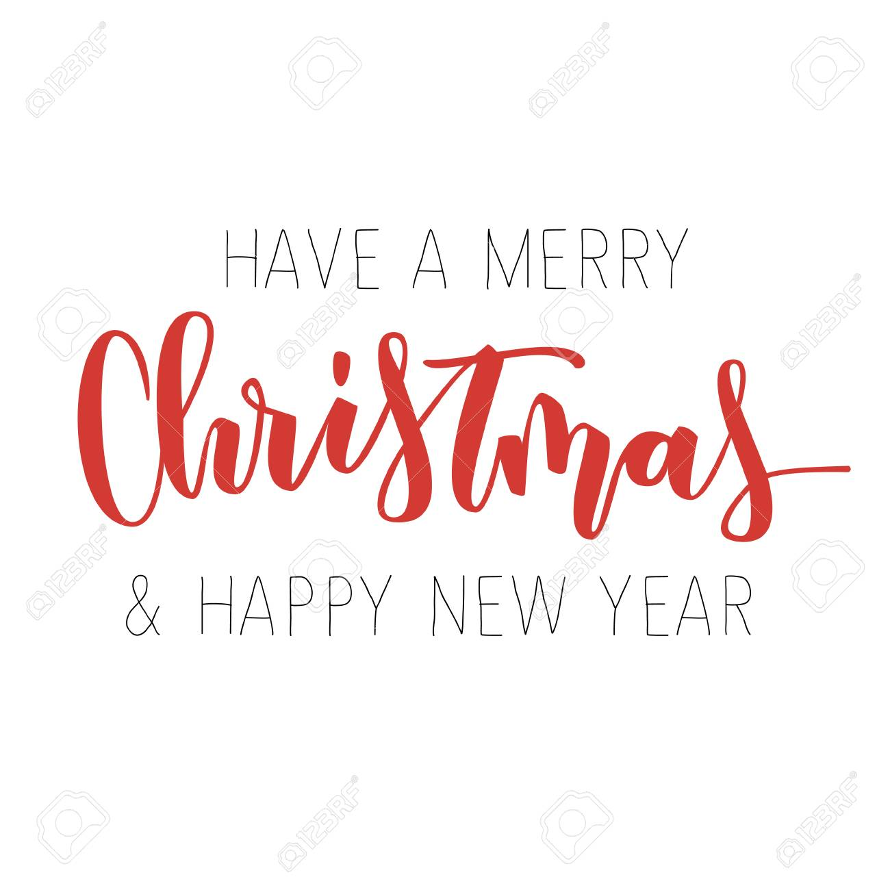 merry christmas and happy new year red hand written inscription royalty free cliparts vectors and stock illustration image 65066365 merry christmas and happy new year red hand written inscription