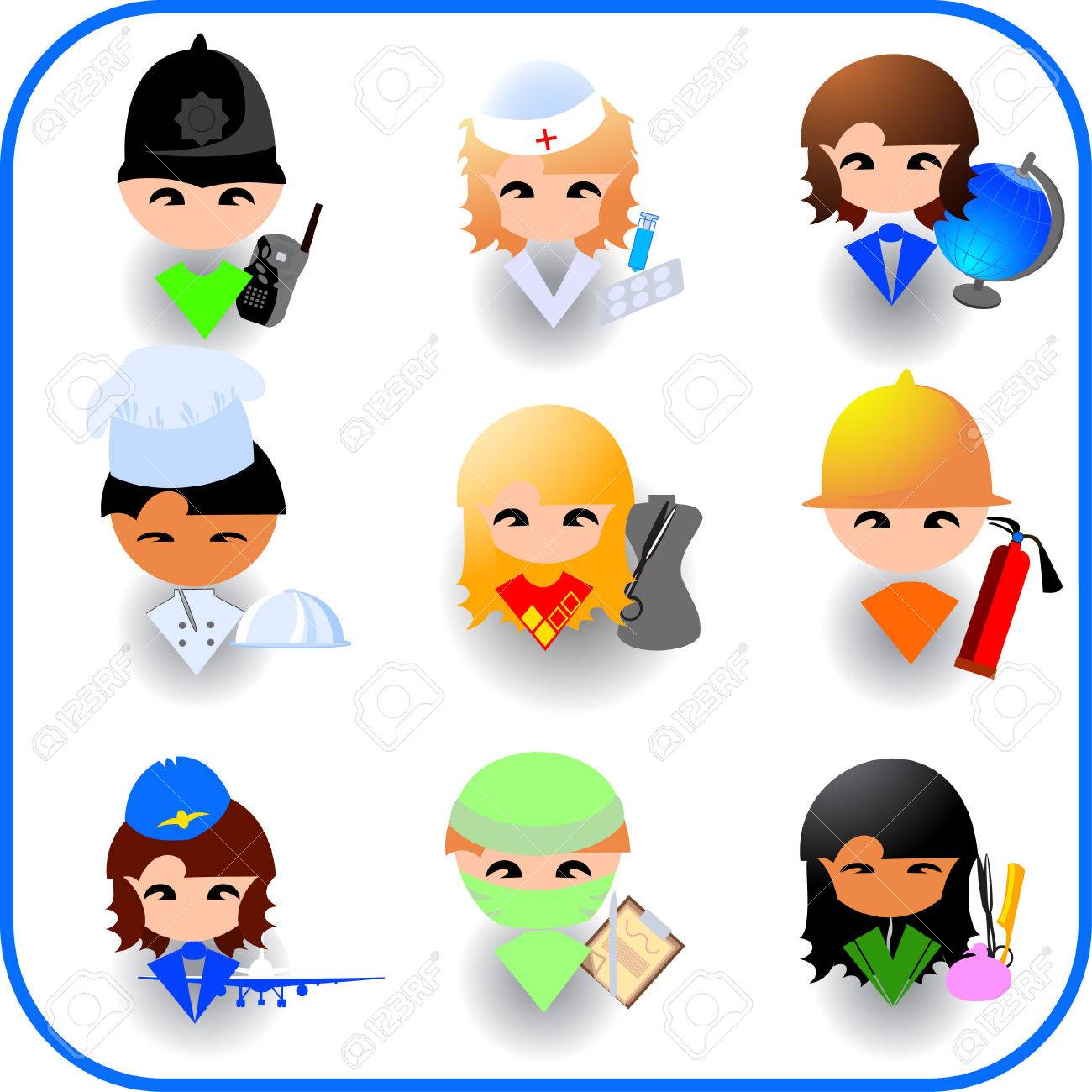 People's occupations. Icon set Stock Vector - 3726925