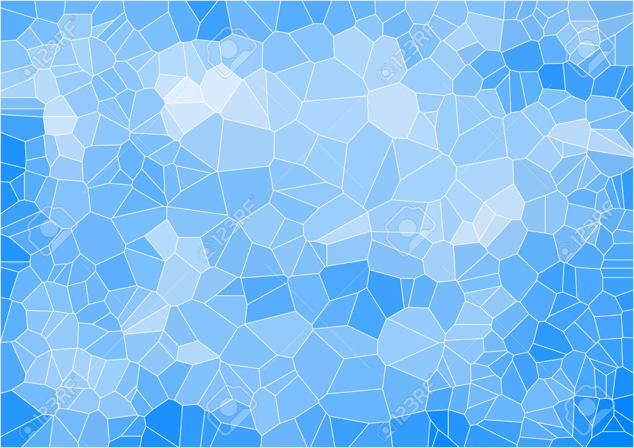 blue mosaic composition with ceramic geometric shapes for your