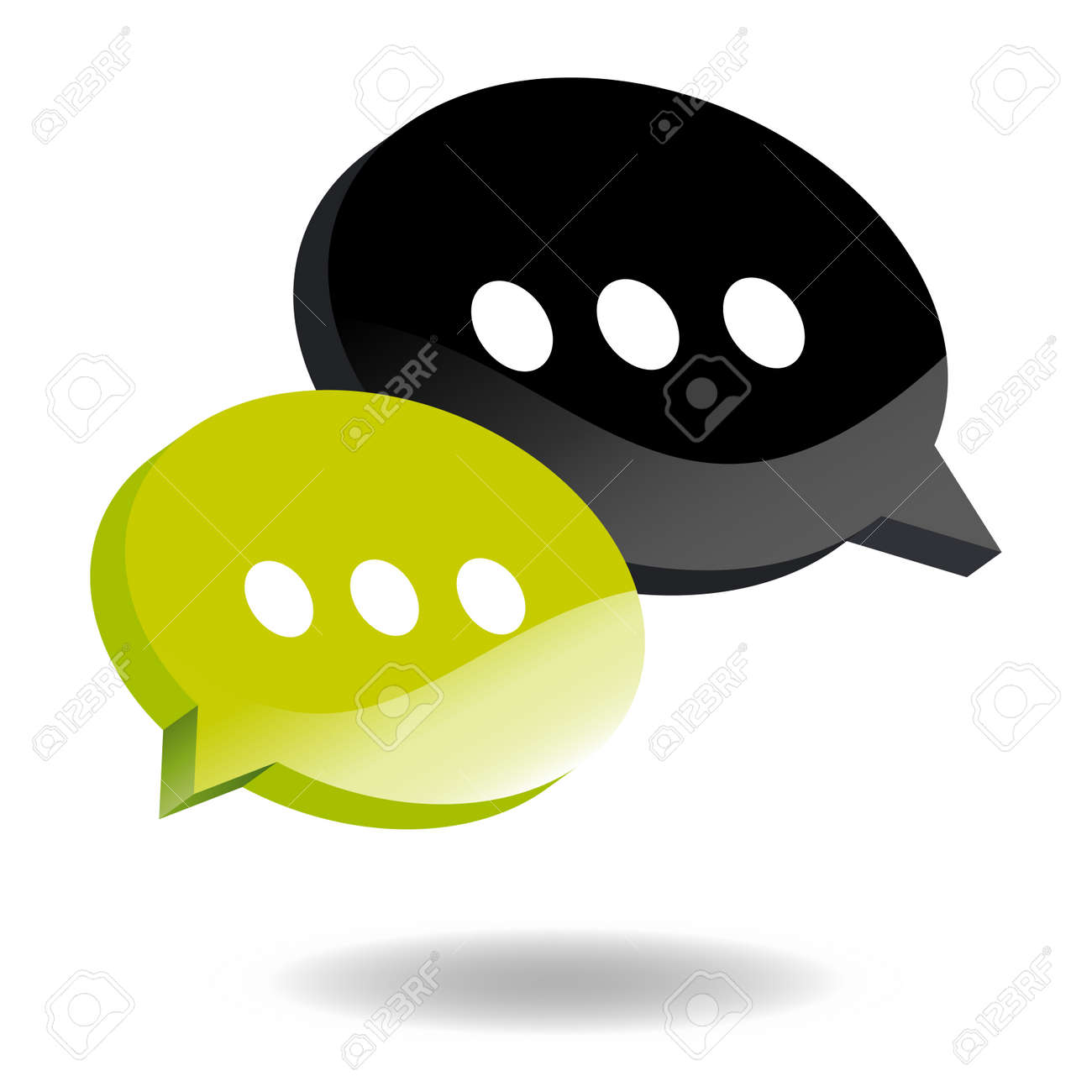 speech balloon symbol Stock Vector - 4377770