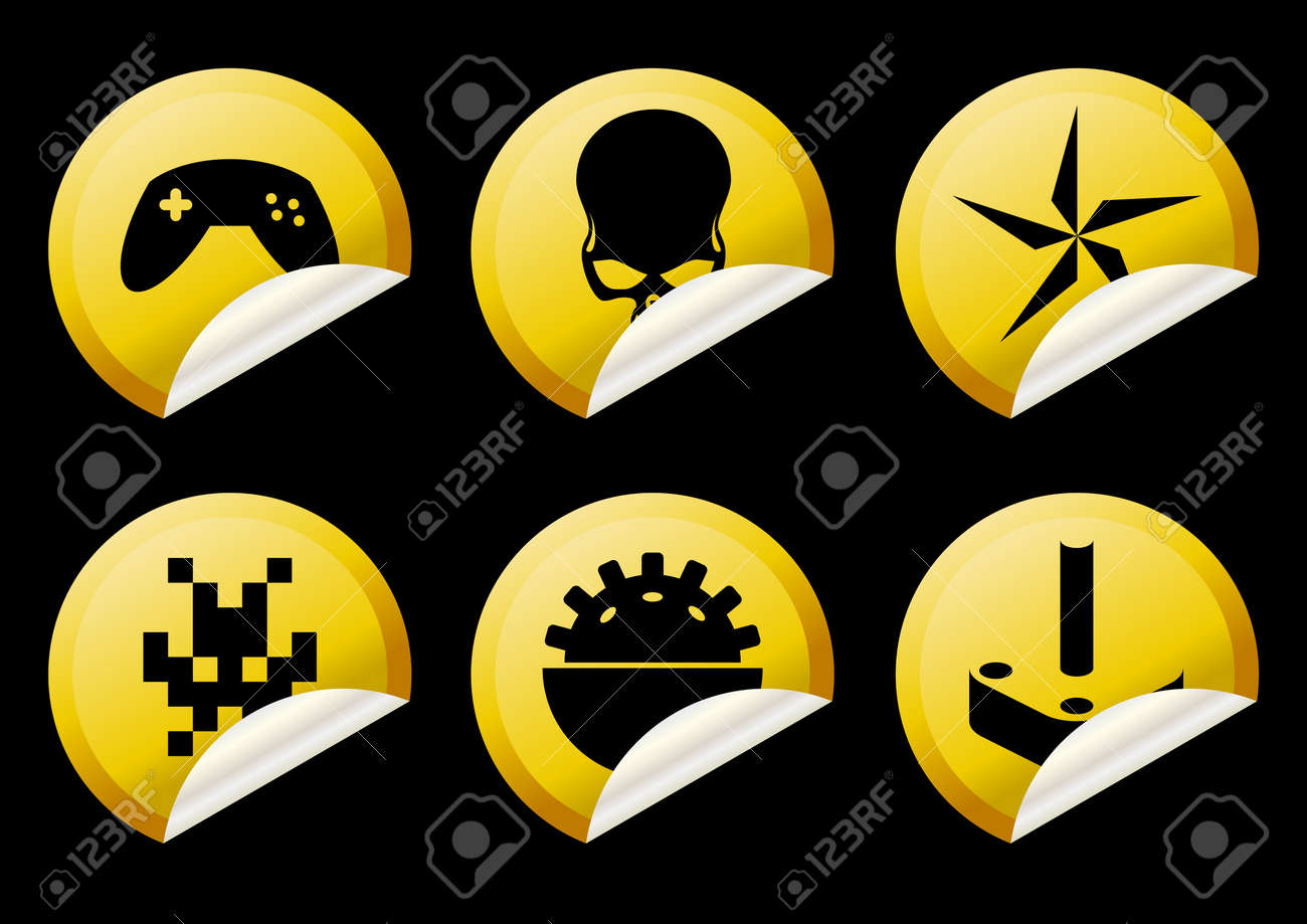 game sticker collection Stock Vector - 4377765
