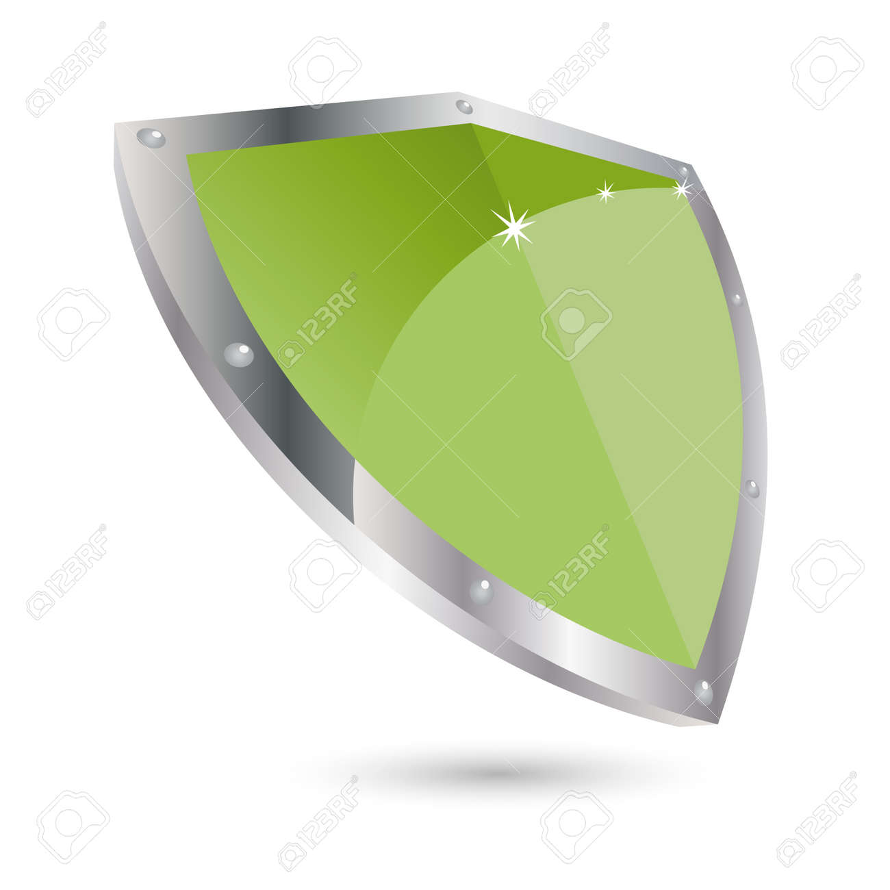 modern shield icon Stock Vector - 4473815