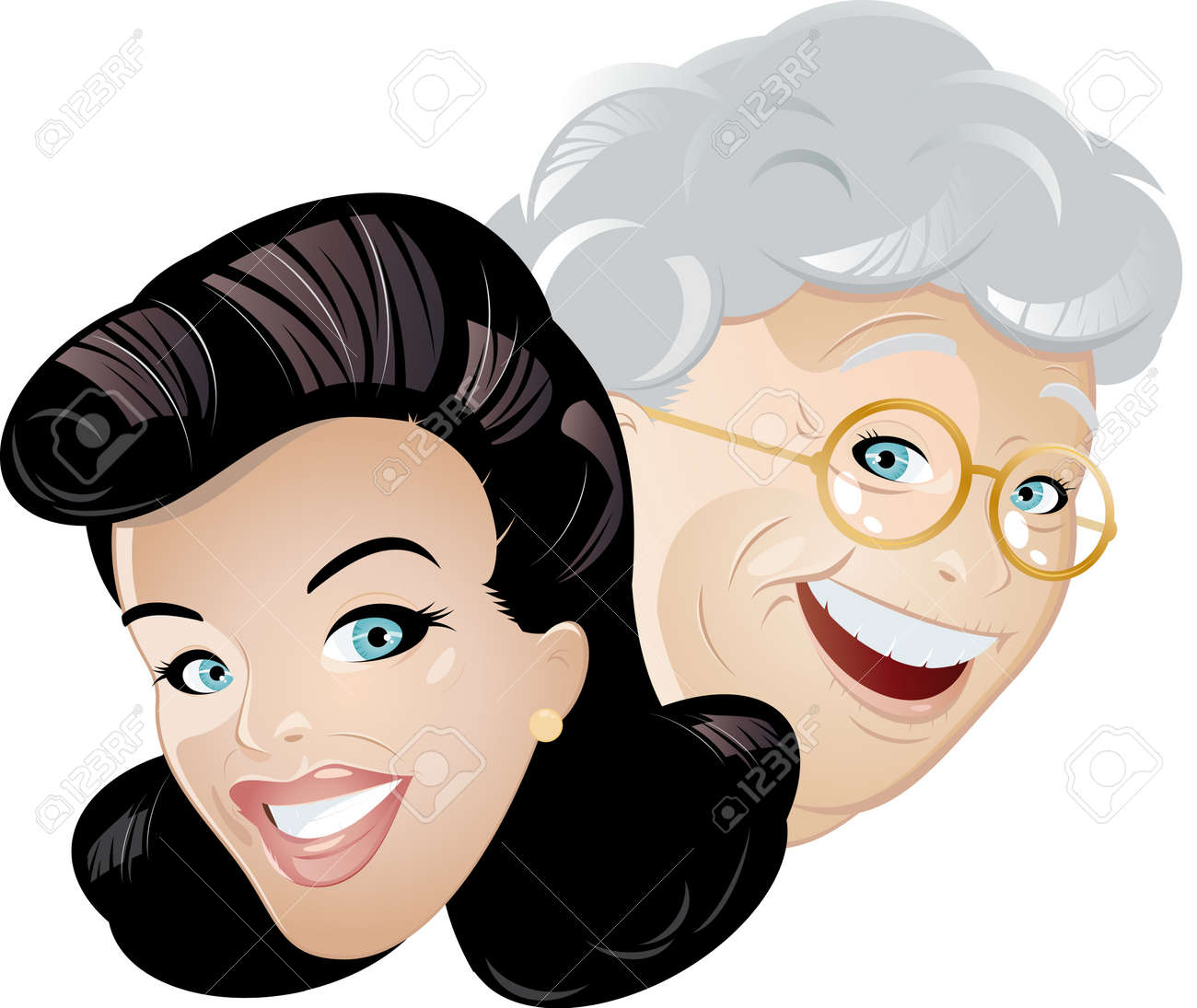 mother and daughter cartoon Stock Vector - 8842378