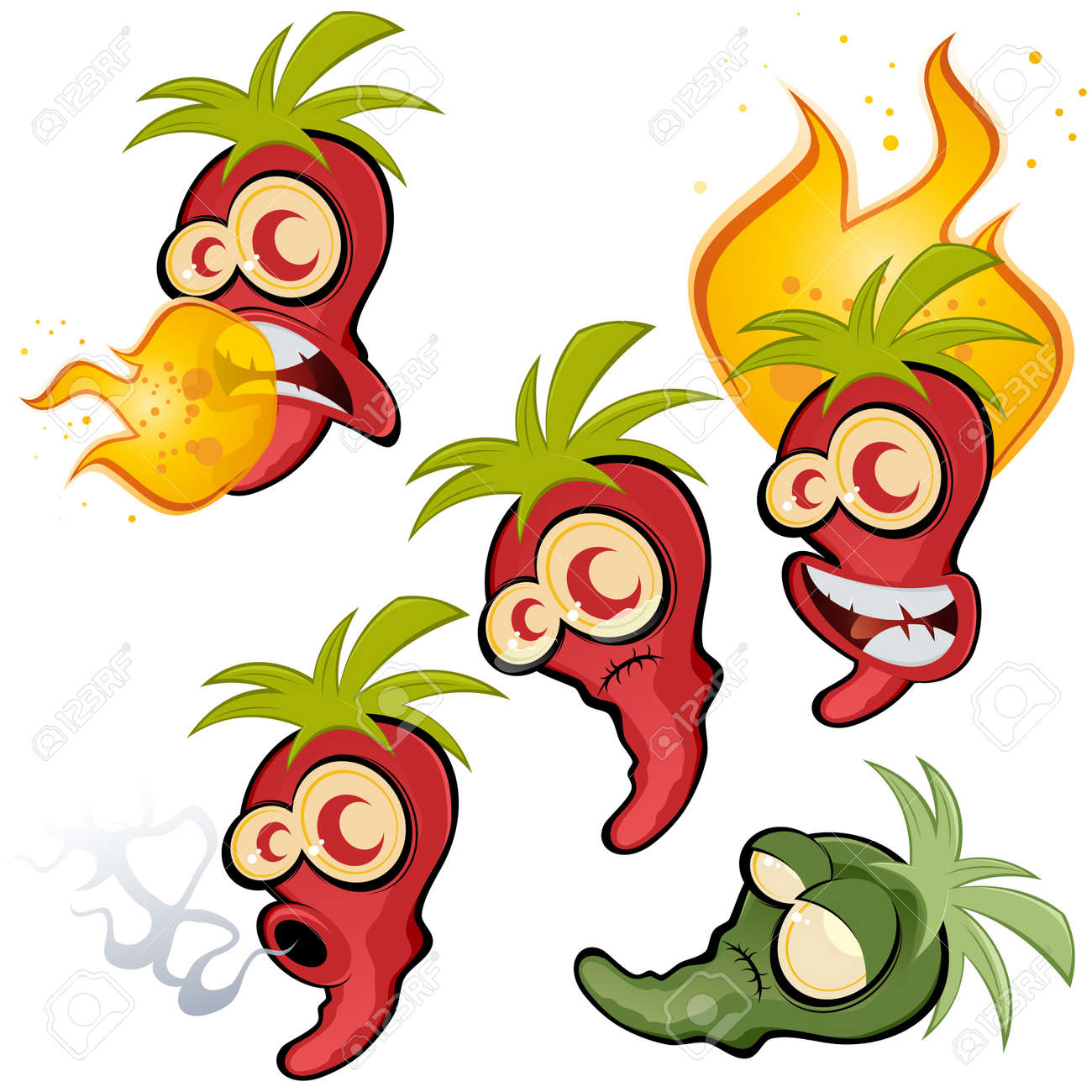 hot chili collection Stock Vector - 10374159