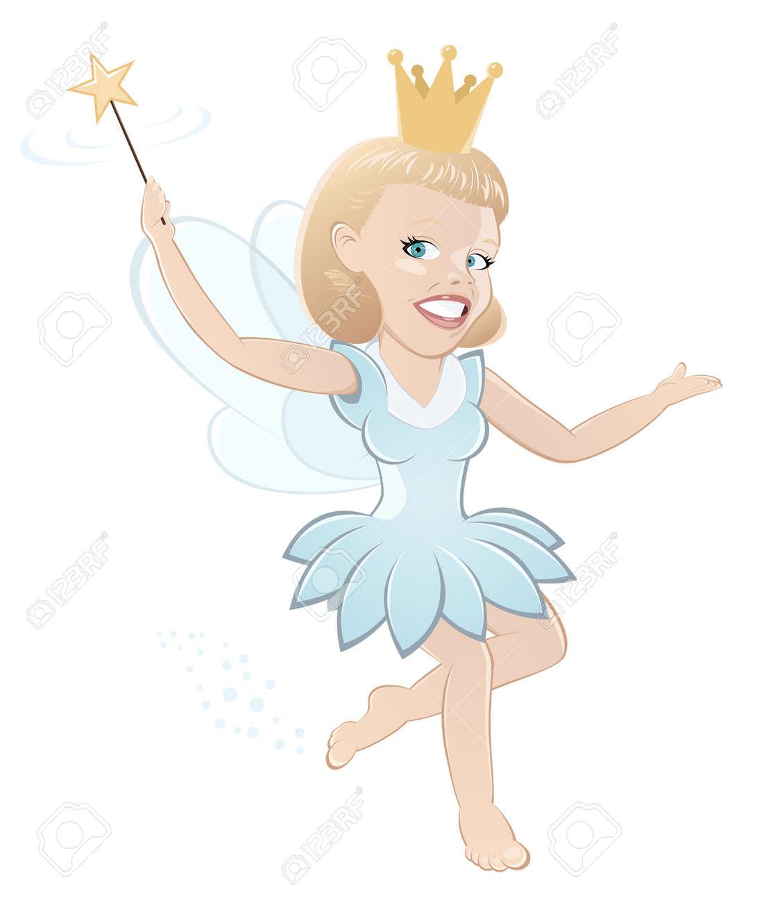 funny cartoon fairy Stock Vector - 12456152