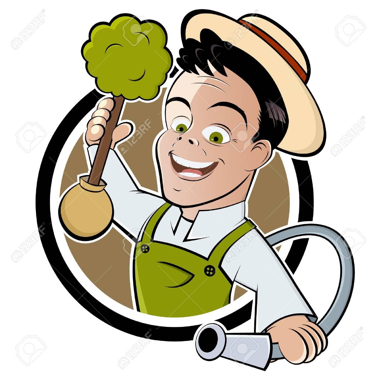 Cartoon Pics of Gardening Cartoon Gardener Happy