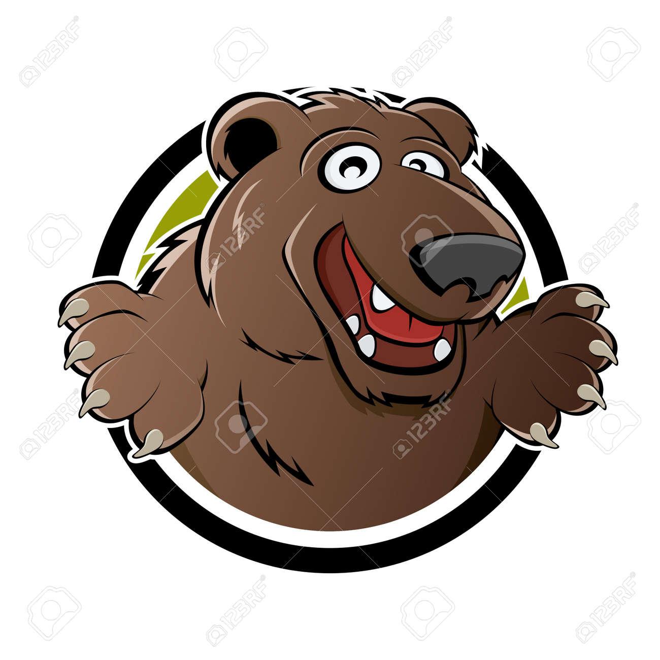happy brown bear Stock Vector - 14244763
