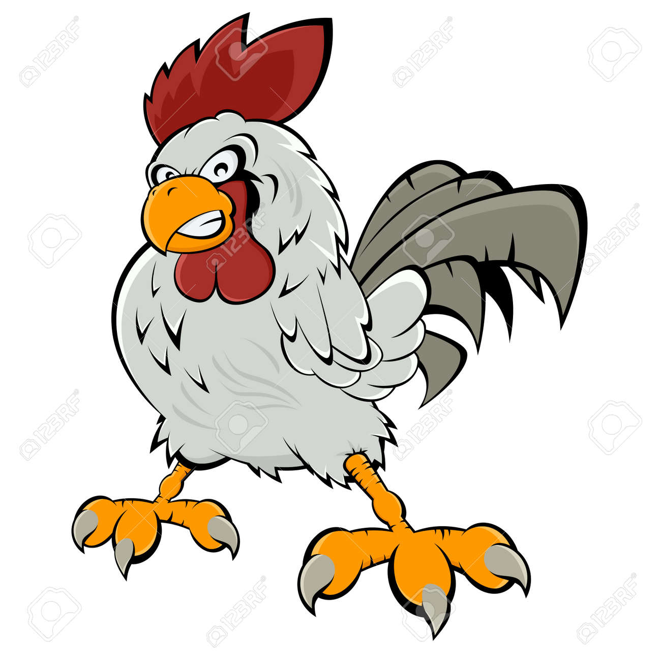 angry cartoon rooster royalty free cliparts vectors and stock