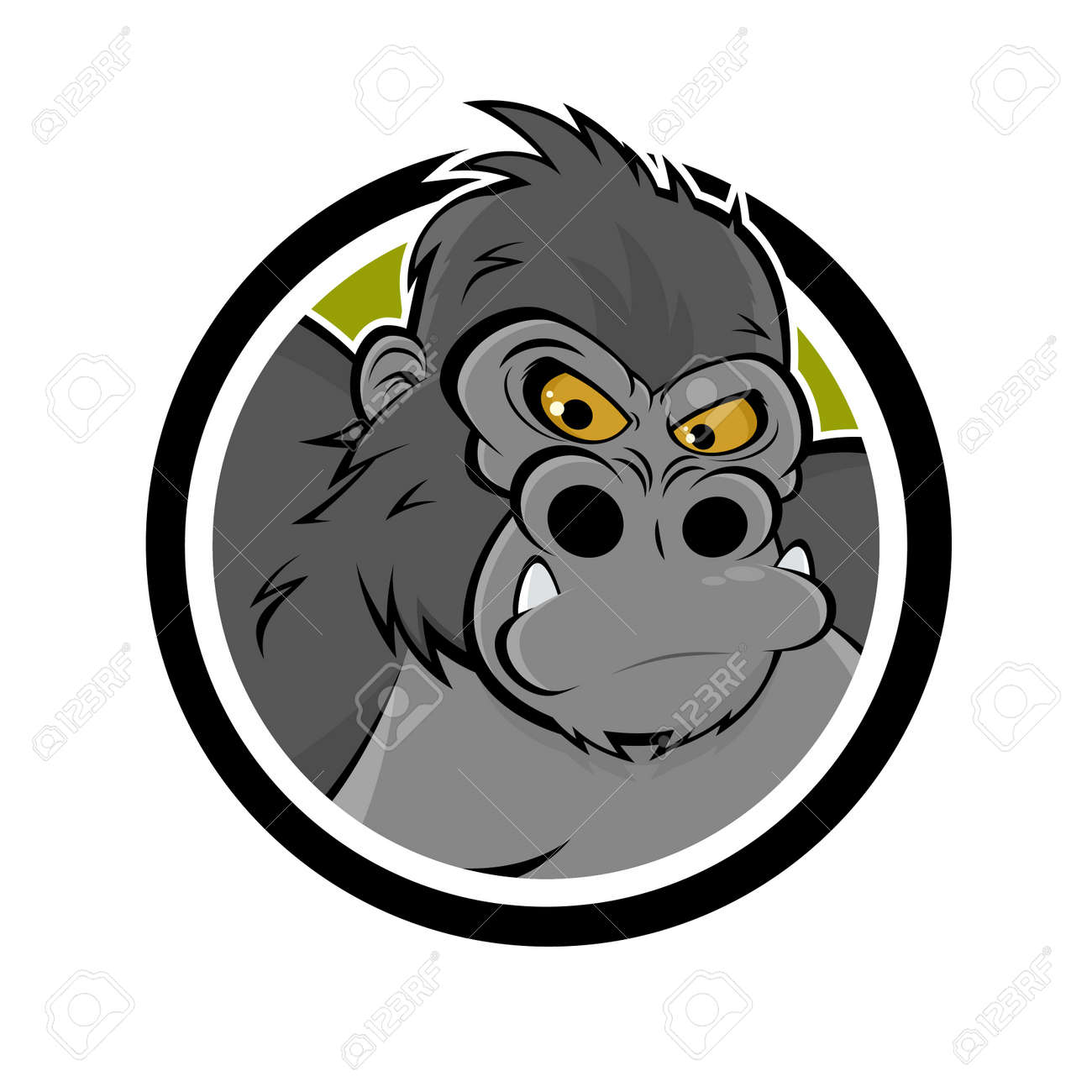 Gorilla Face Cartoon Big Gorilla Angry Cartoon