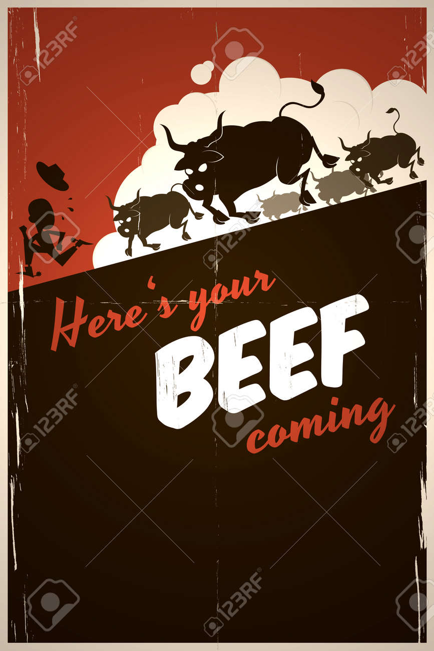 funny beef background Stock Photo - 15828207