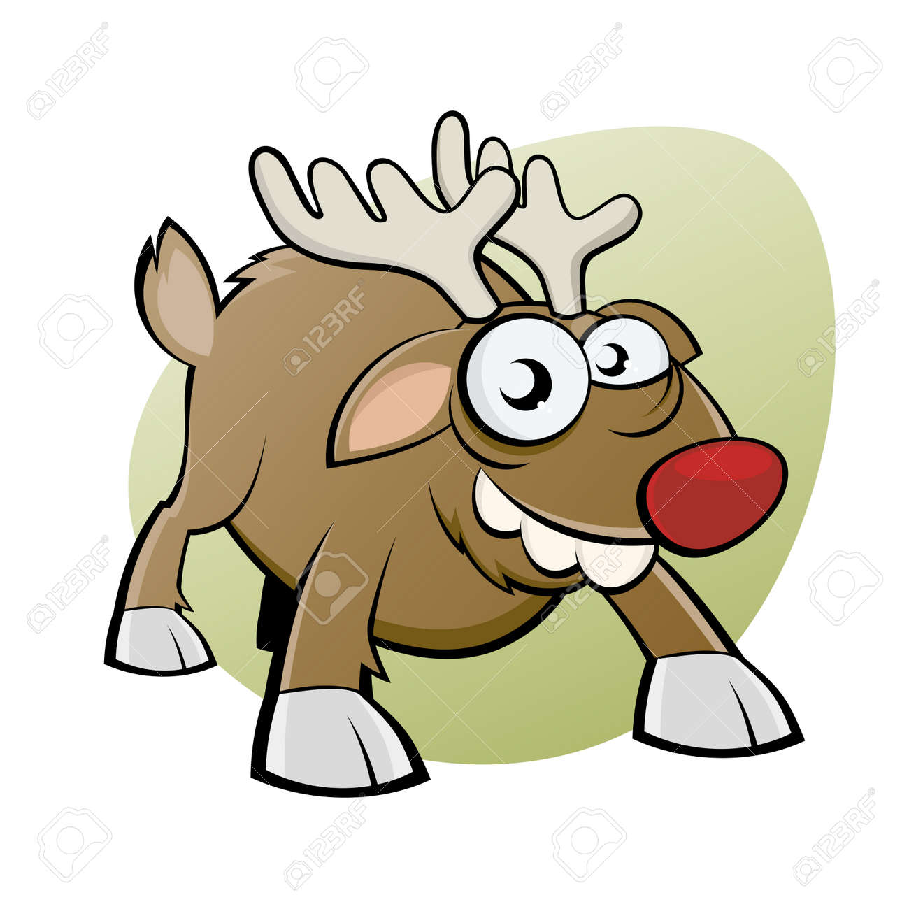 funny christmas reindeer Stock Vector - 16002413