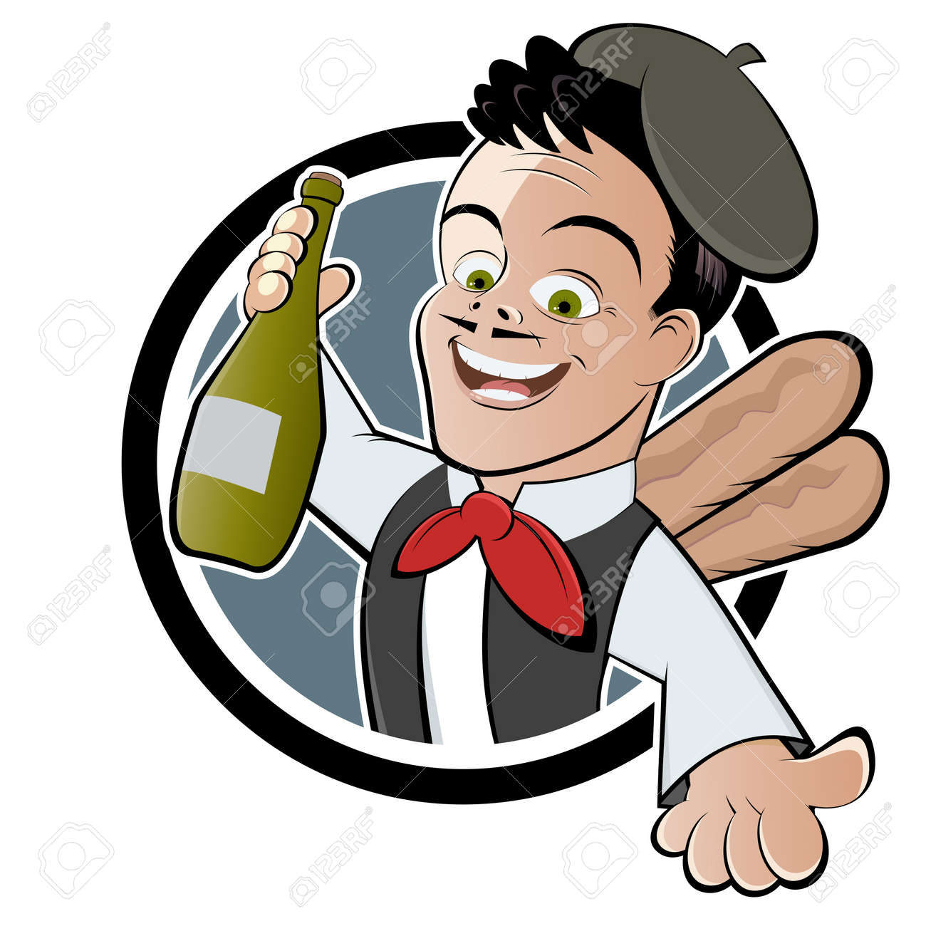 french man with wine royalty free cliparts vectors and stock rh 123rf com French Beret Clip Art French Guys Talking Clip Art