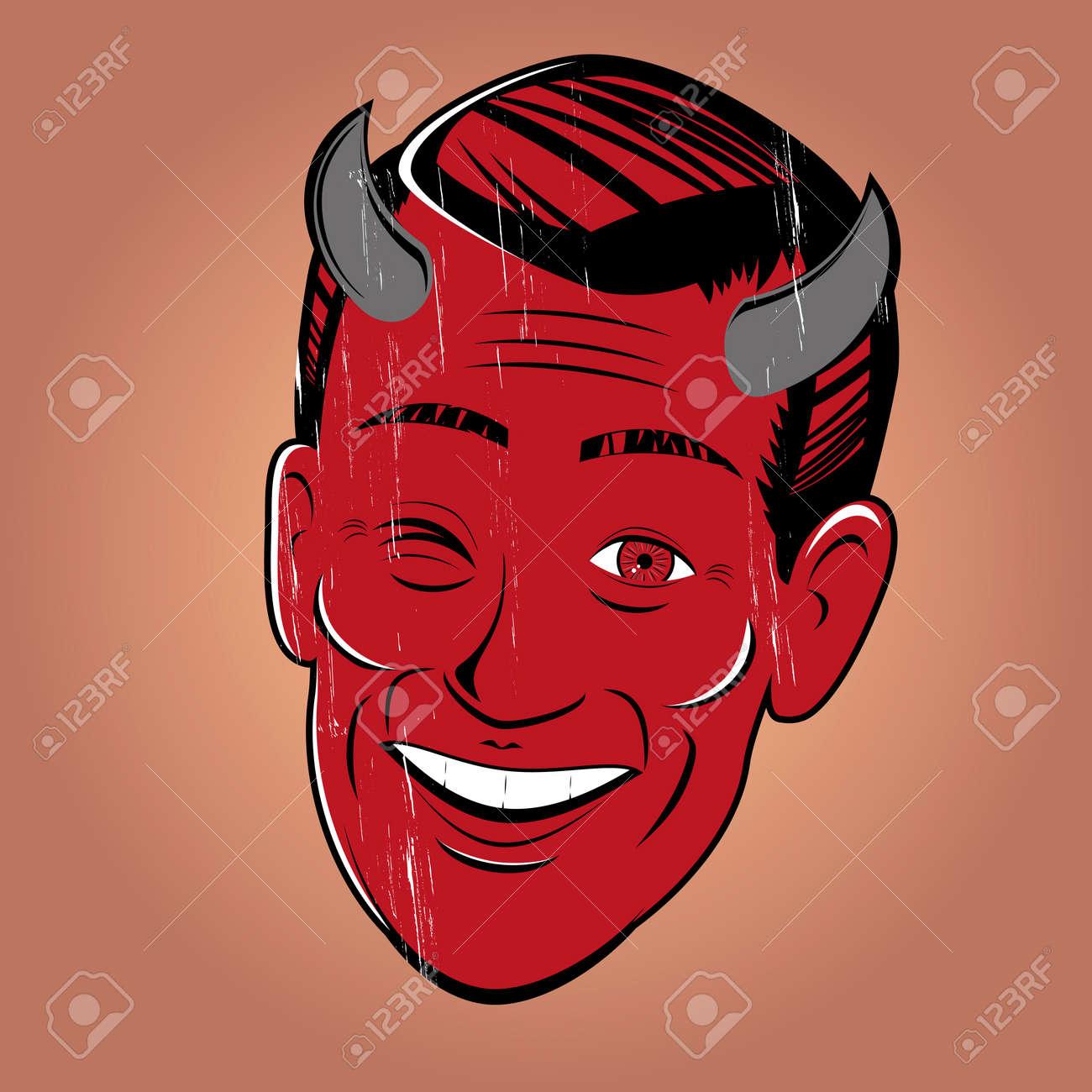 winking cartoon devil Standard-Bild - 20111909