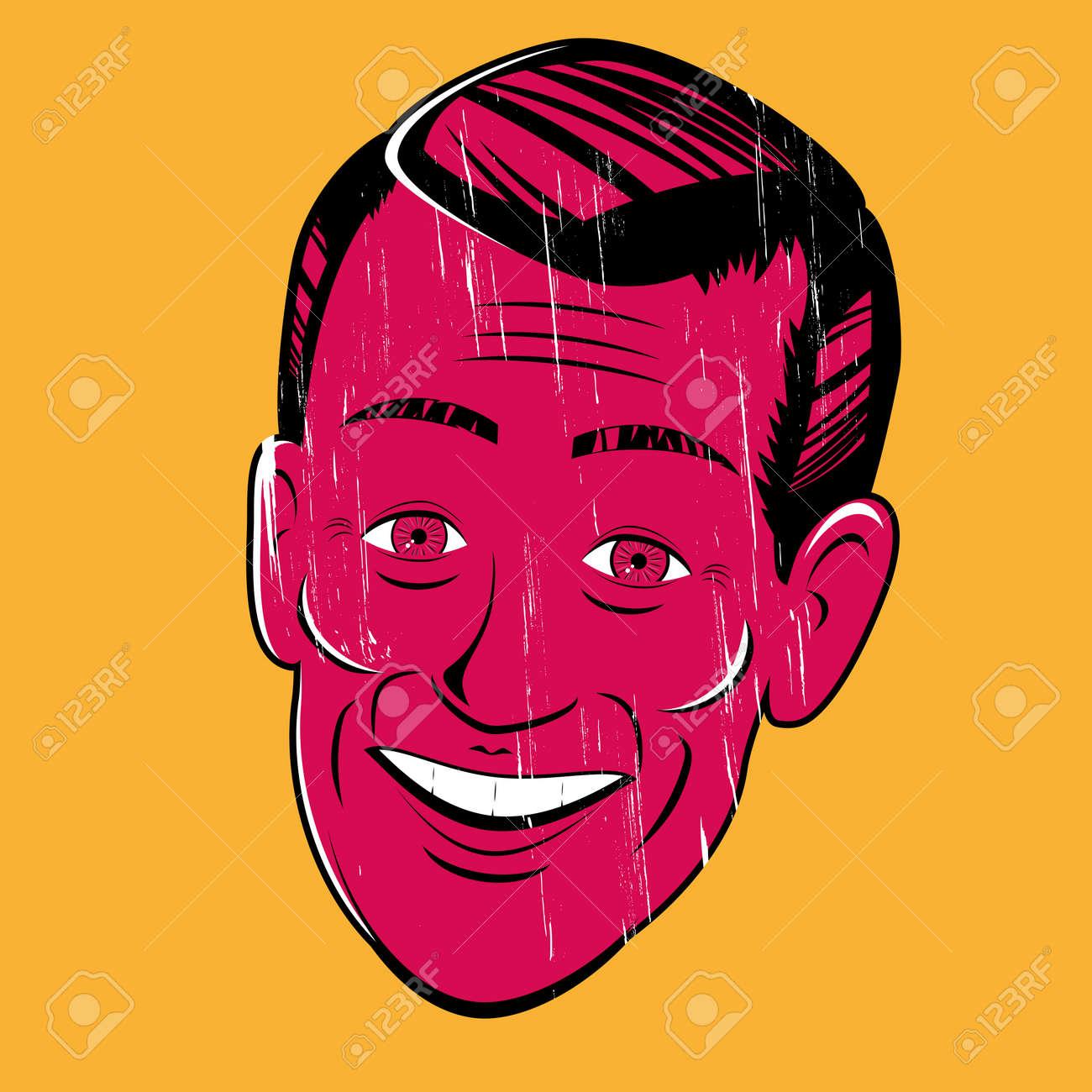 vintage cartoon man Stock Vector - 20111903