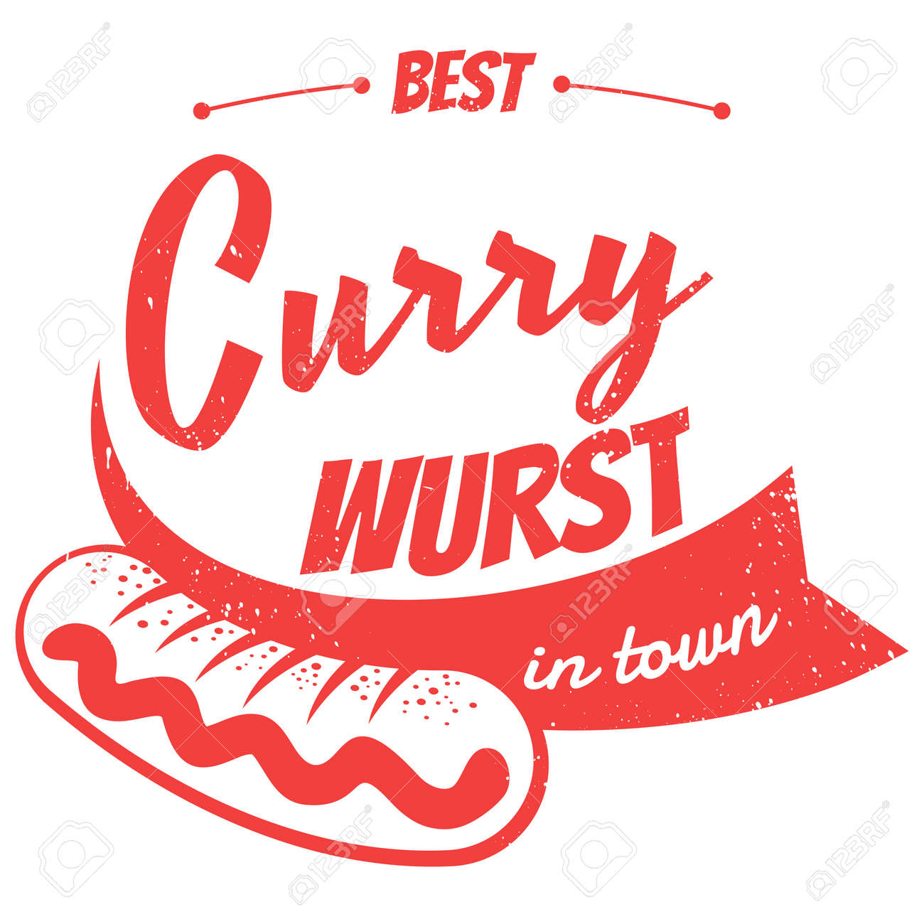 Deutsch Currywurst Standard-Bild - 21645959