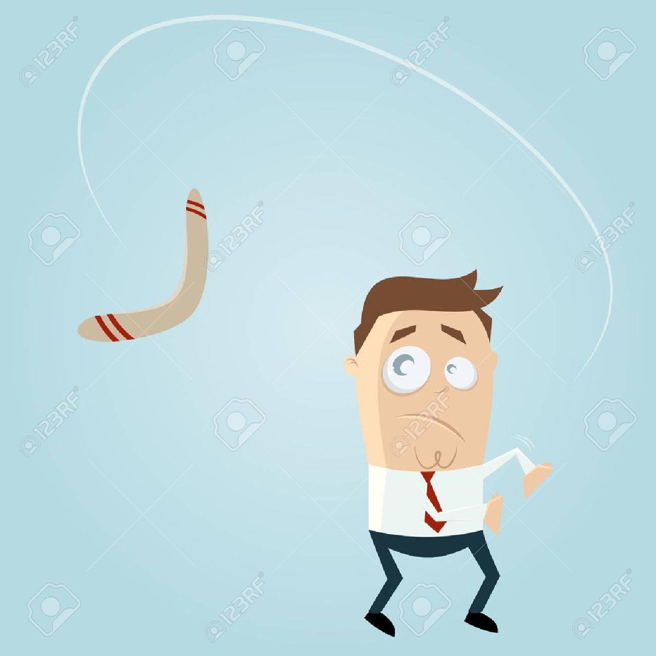 Bumerang kommt zurück Standard-Bild - 22469353