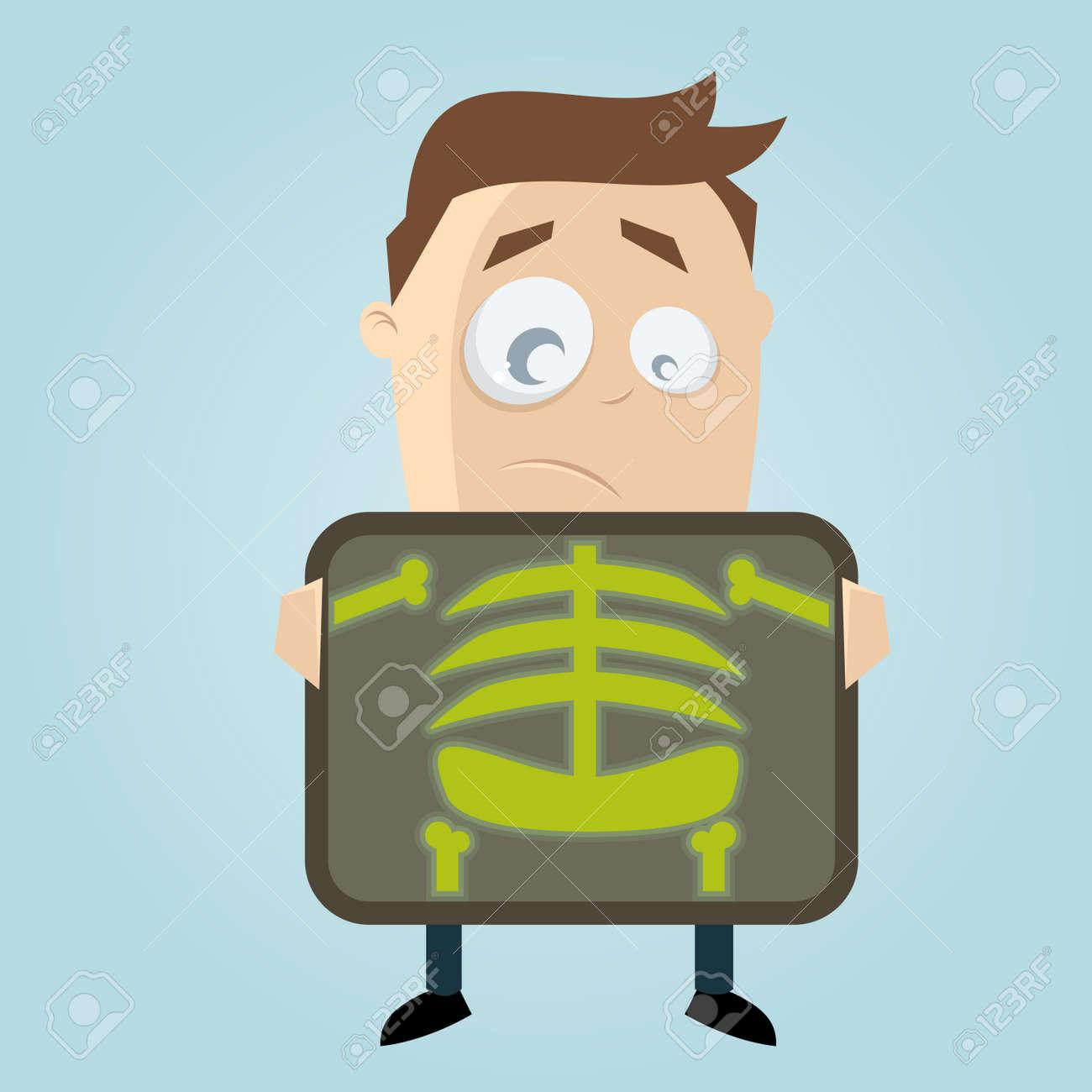 cartoon man is getting x-ray examination Stock Vector - 22469437