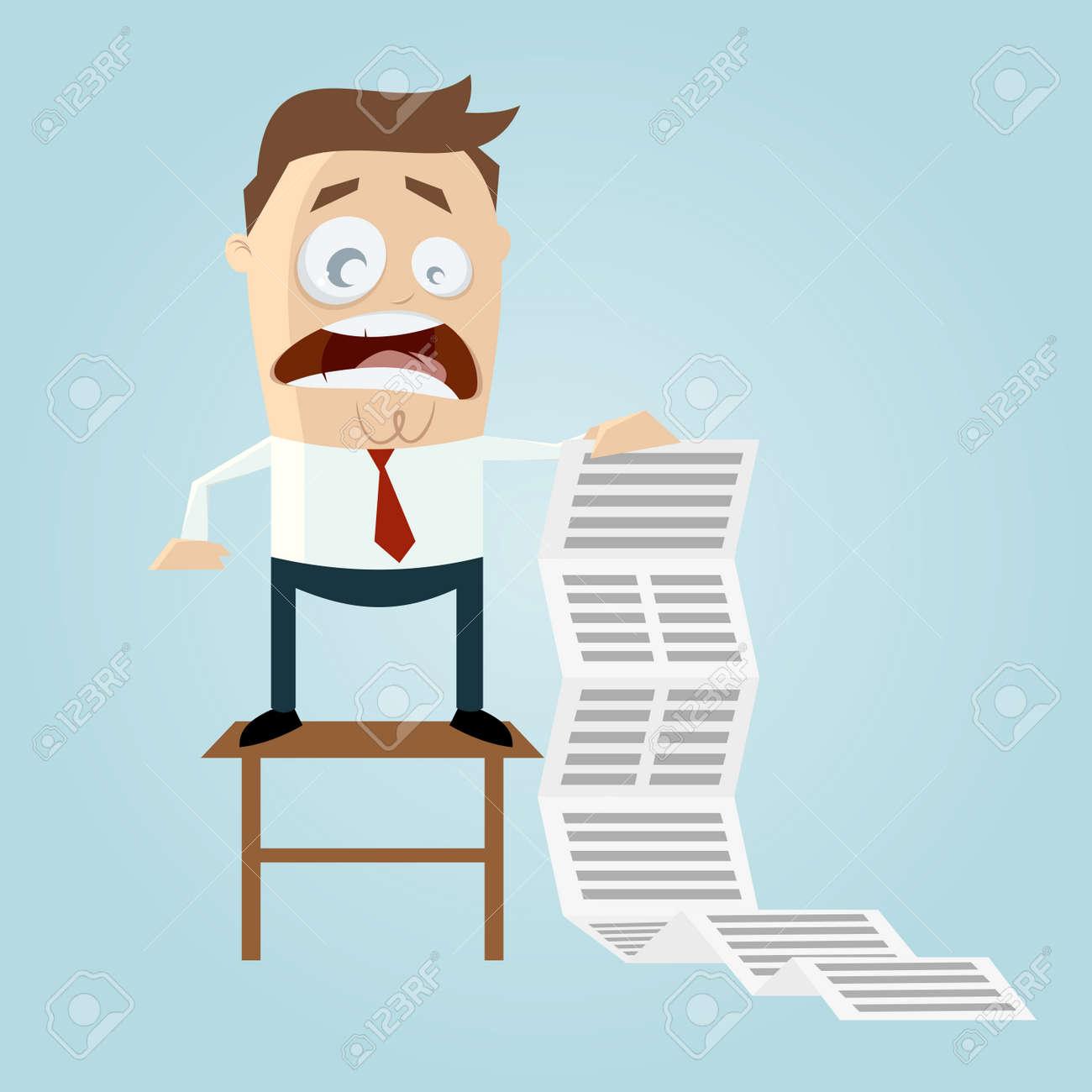 cartoon man with long task list - 26729943