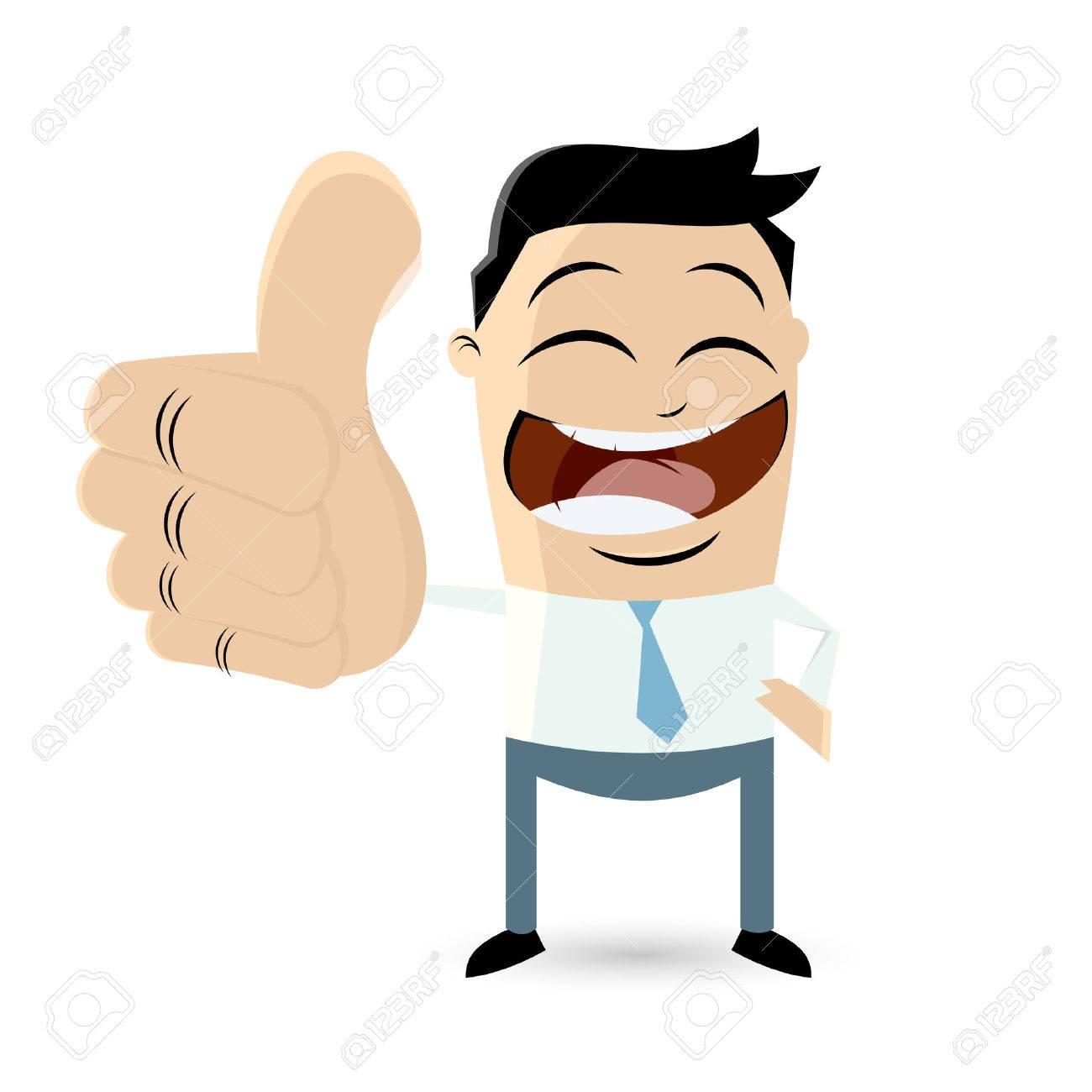 Businessman with thumbs up Standard-Bild - 26729729