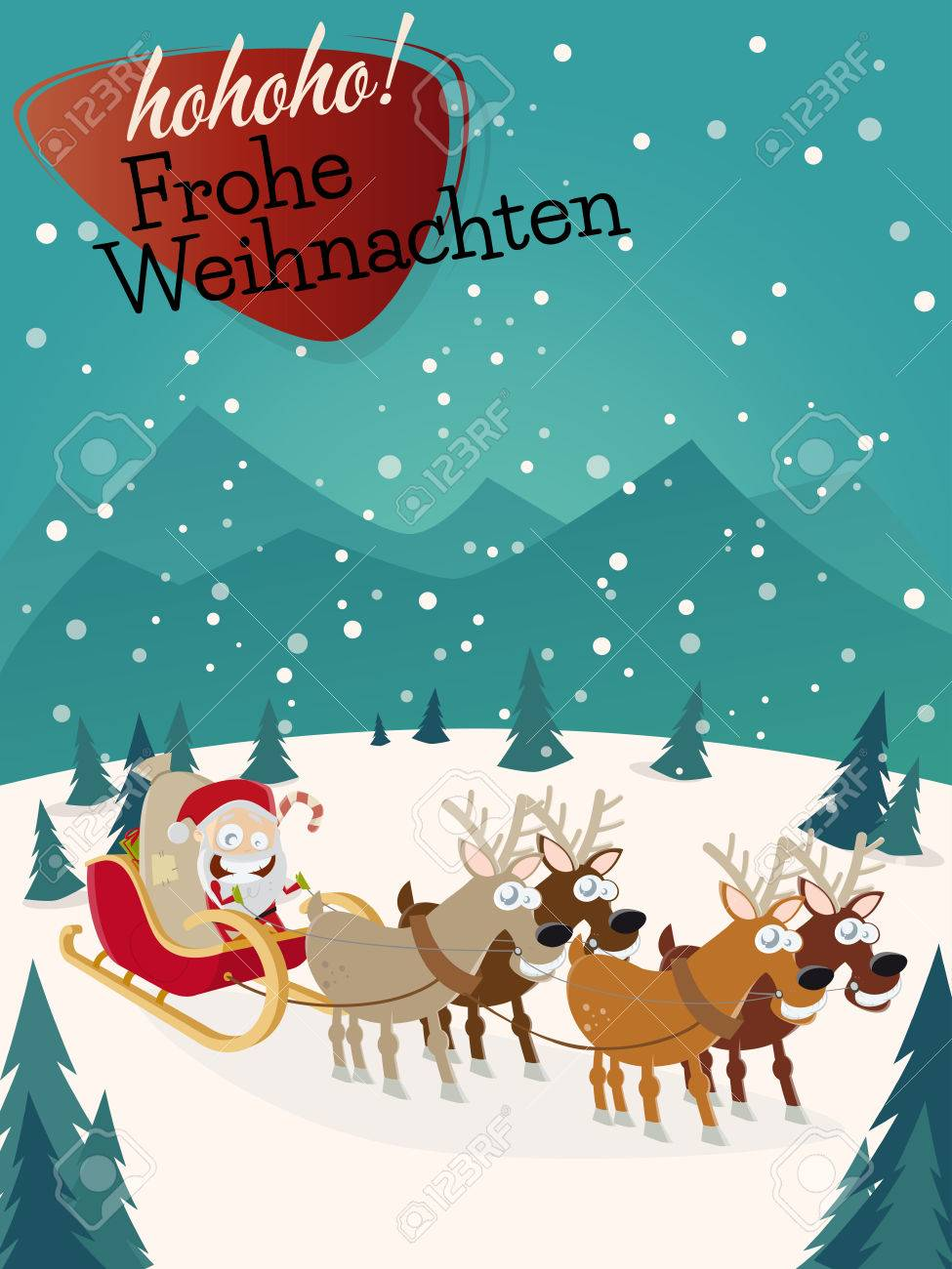 Weihnachtsgrüße Männer.Stock Photo