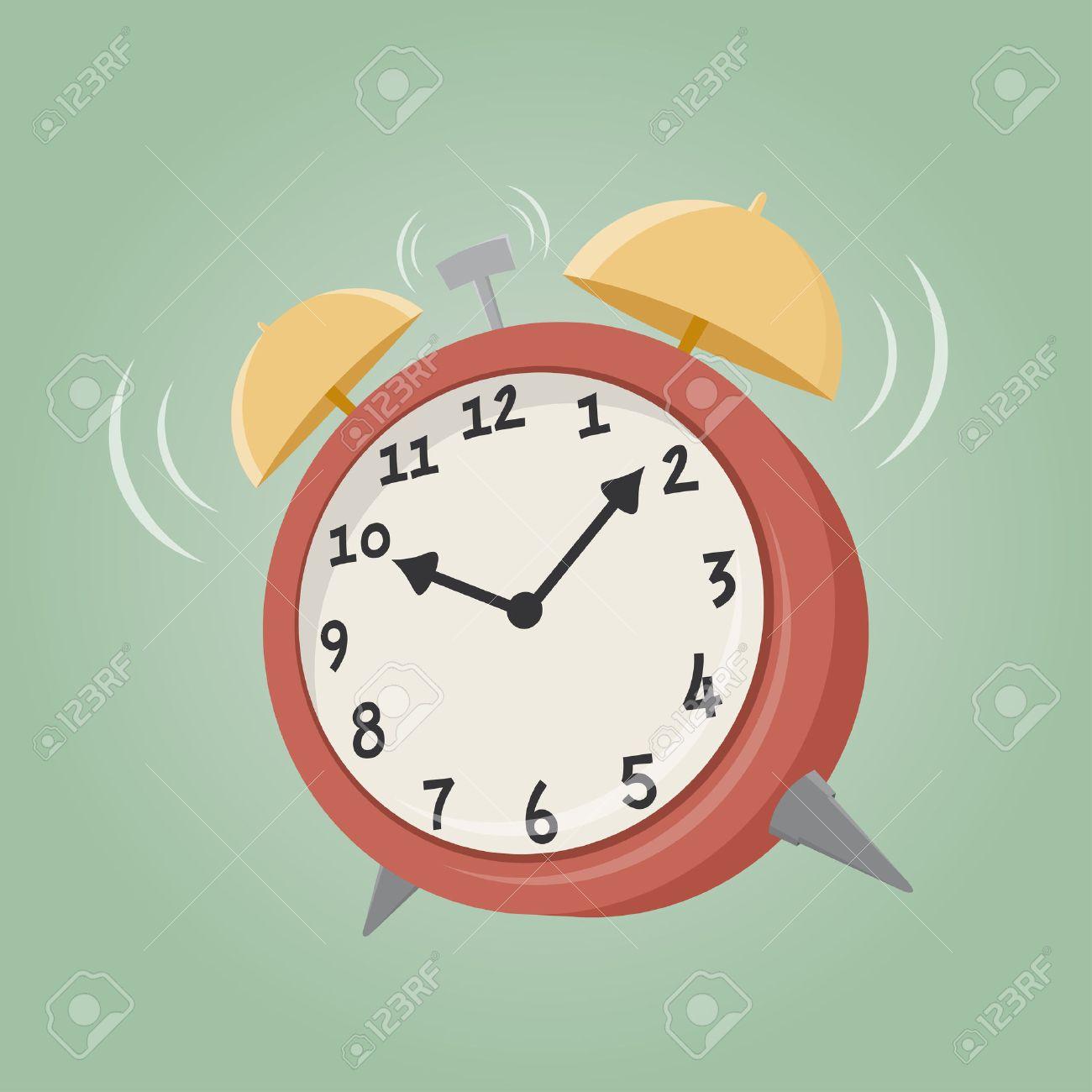 cartoon alarm clock Standard-Bild - 39062858