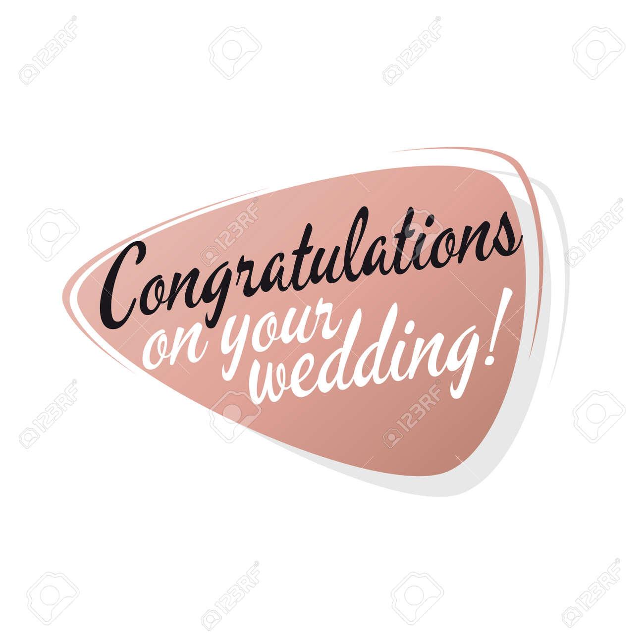 retro wedding congratulations sign royalty free cliparts vectors