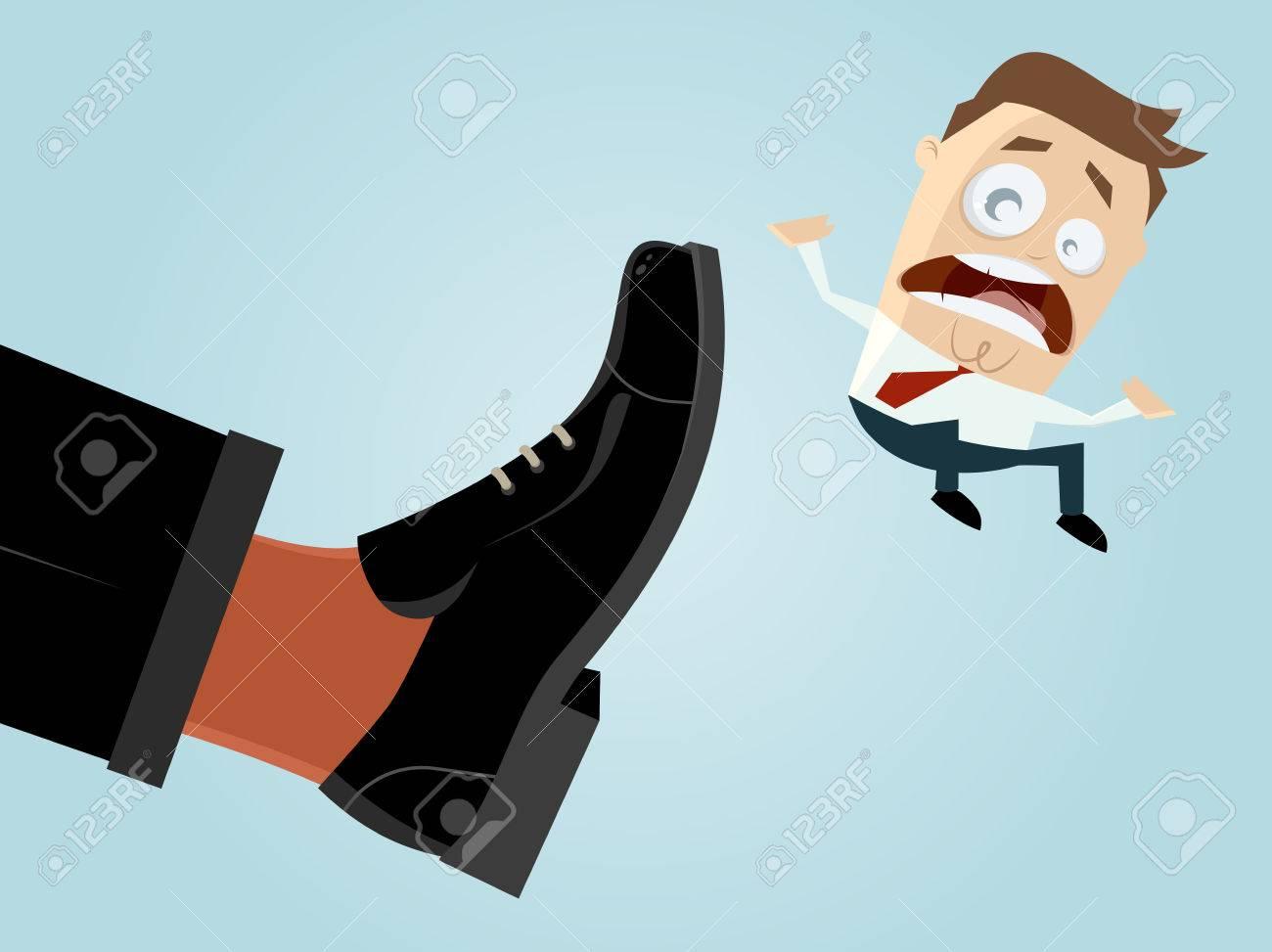 businessman is fired Standard-Bild - 53423541