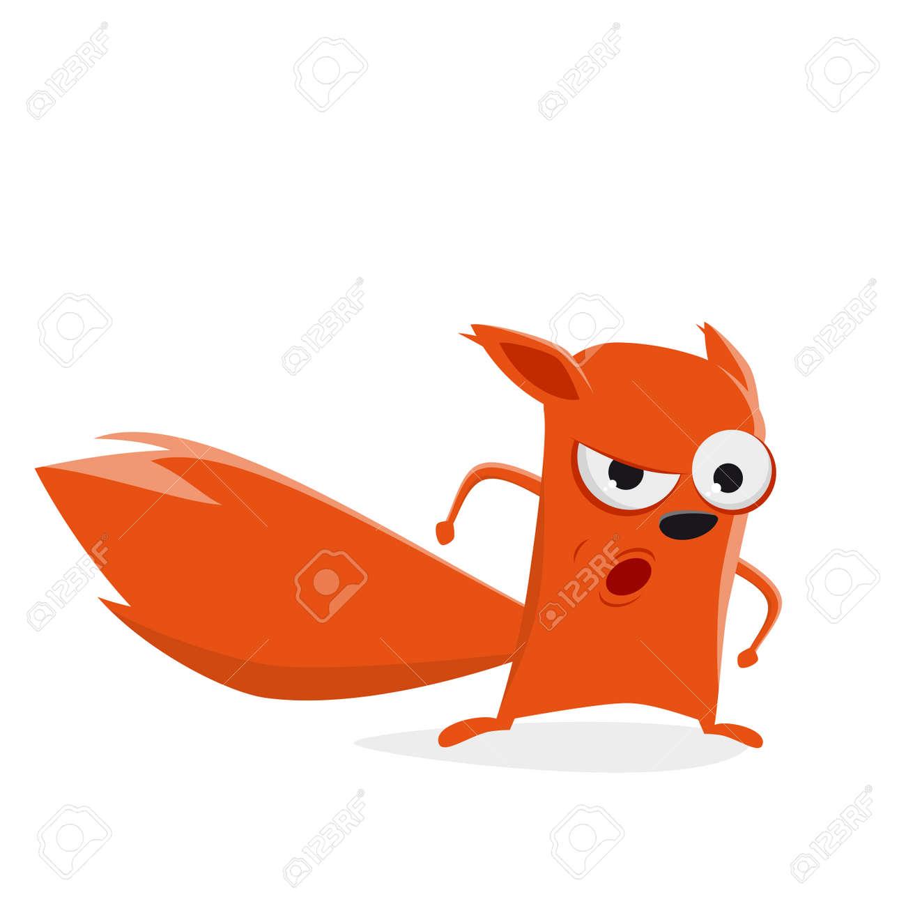 Vettoriale divertente cartone animato scoiattolo è arrabbiato
