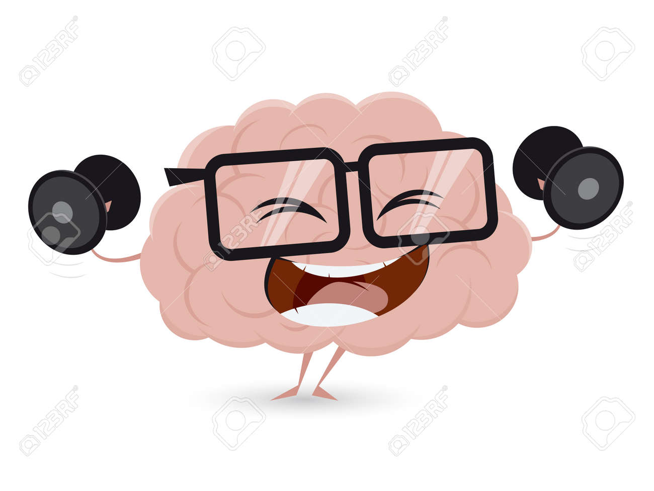 funny brain workout with dumbbells clipart royalty free cliparts rh 123rf com workout clipart free workout clip art images