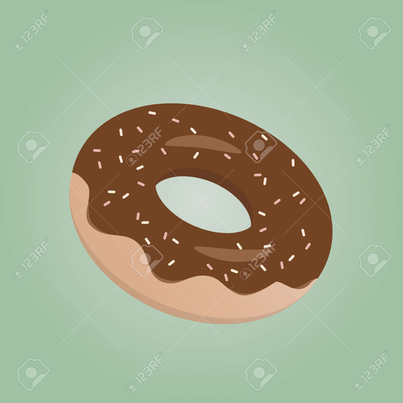 delicious donut with chocolate glaze Standard-Bild - 84826025