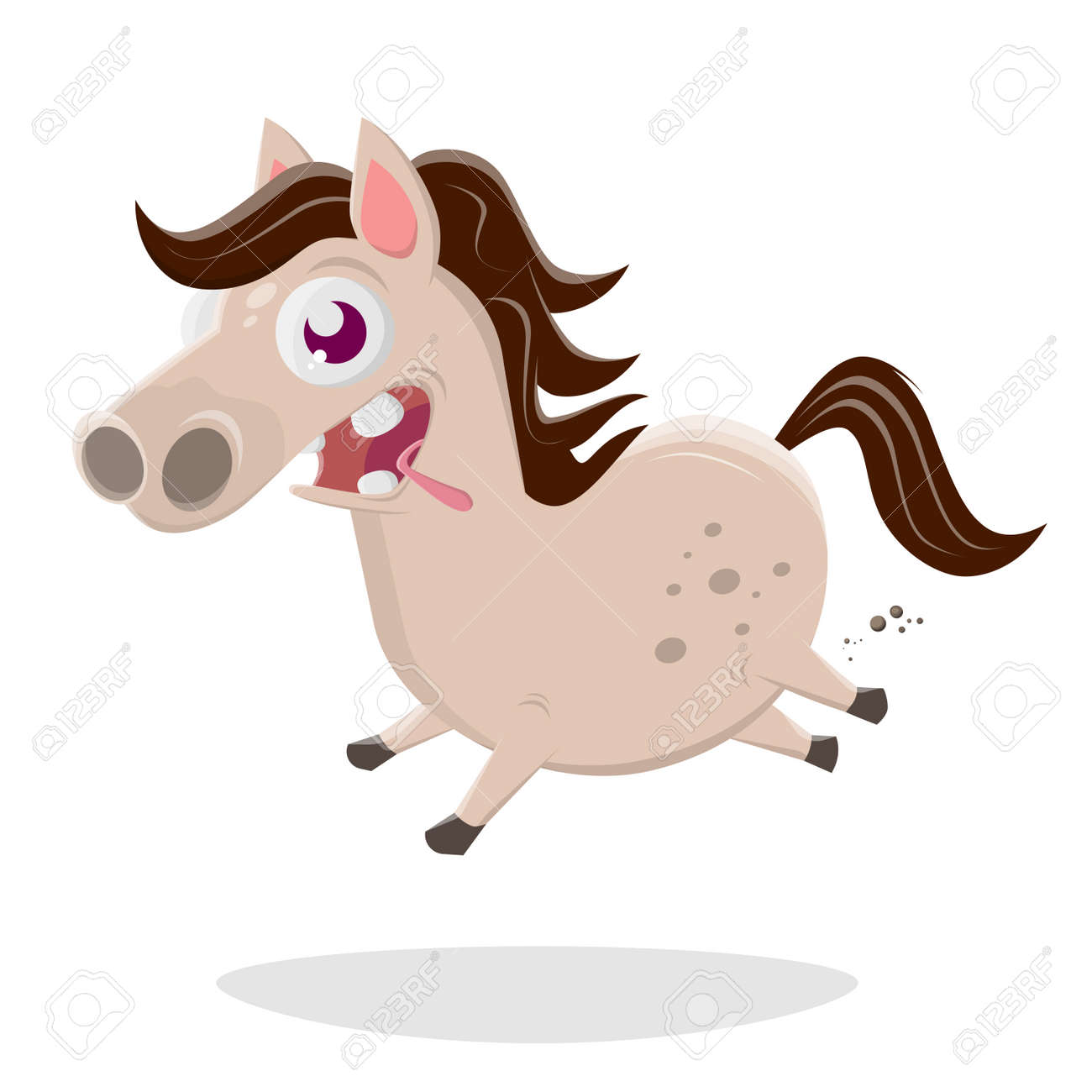 Funny Cartoon Illustration Of A Crazy Horse Royalty Free Cliparts Vectors And Stock Illustration Image 113330334