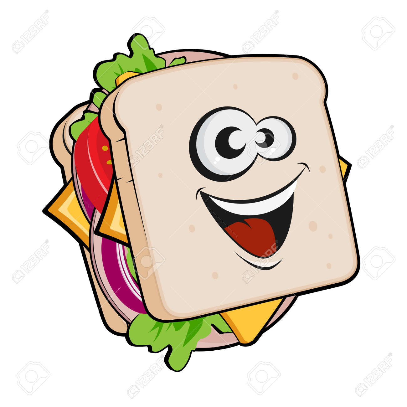 funny cartoon illustration of a sandwich royalty free cliparts vectors and stock illustration image 120308376 funny cartoon illustration of a sandwich