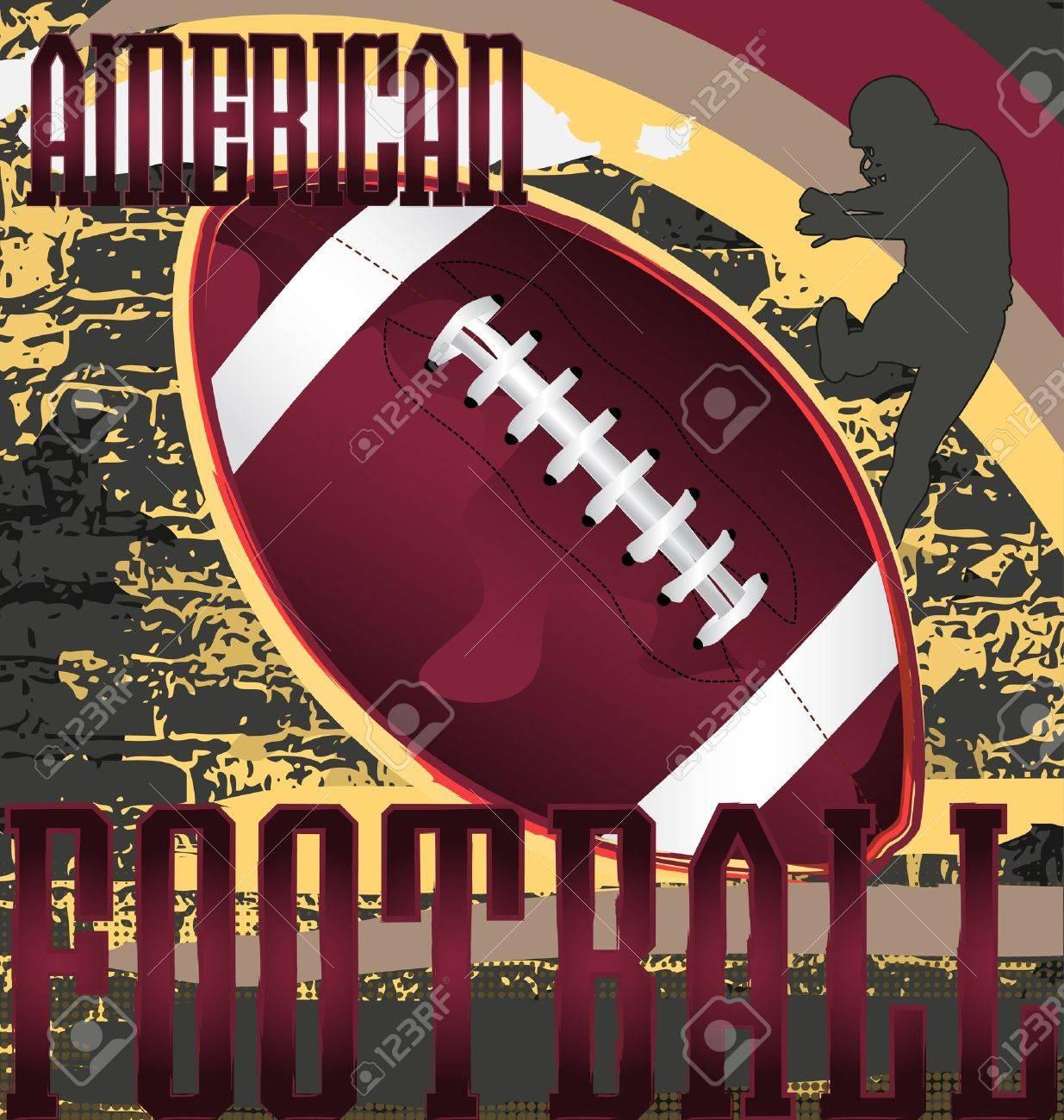 Football abstract design poster. Vector Illustration. Stock Vector - 10024393