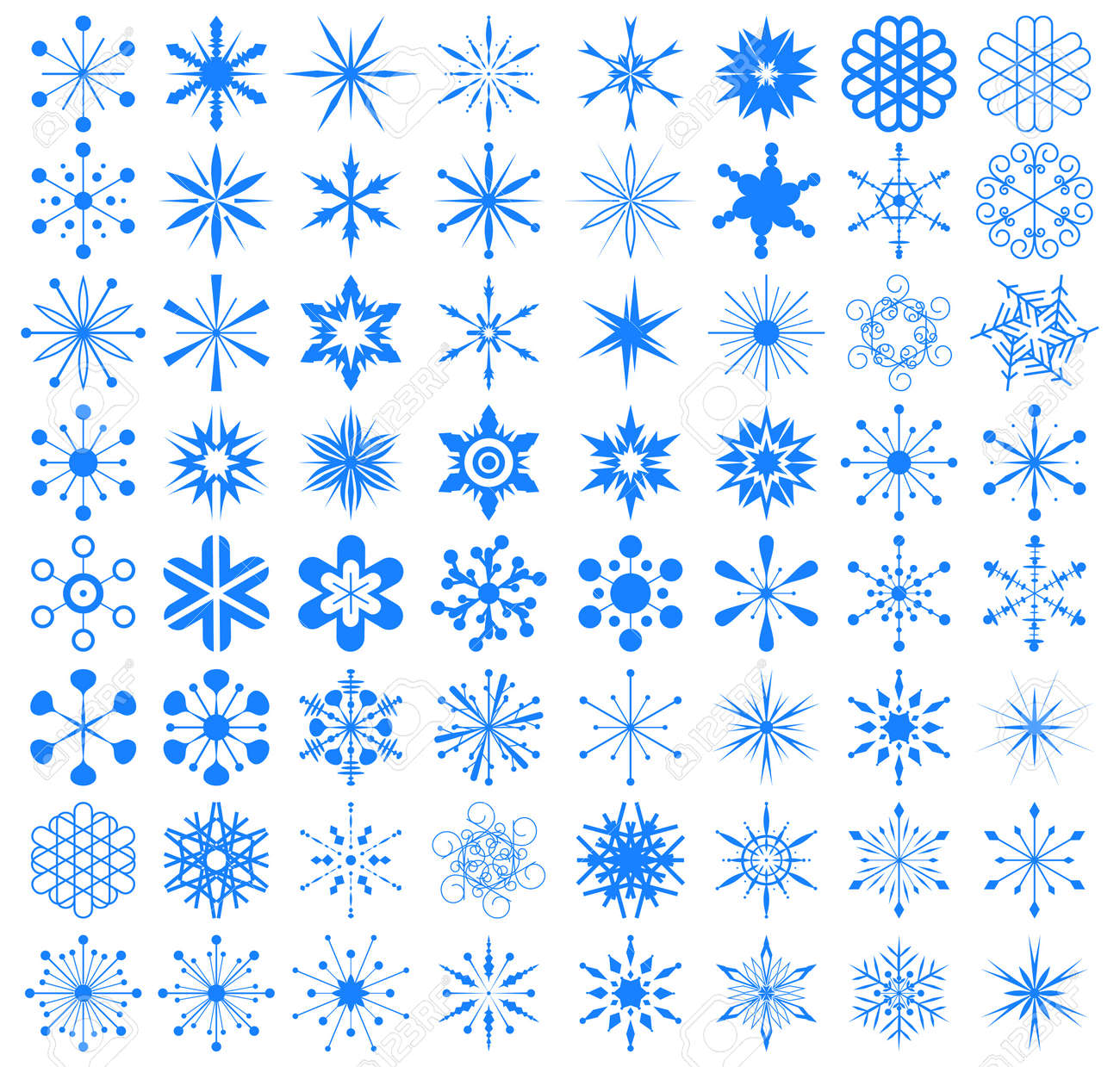 set of snowflakes. elements are grouped Stock Vector - 17179933