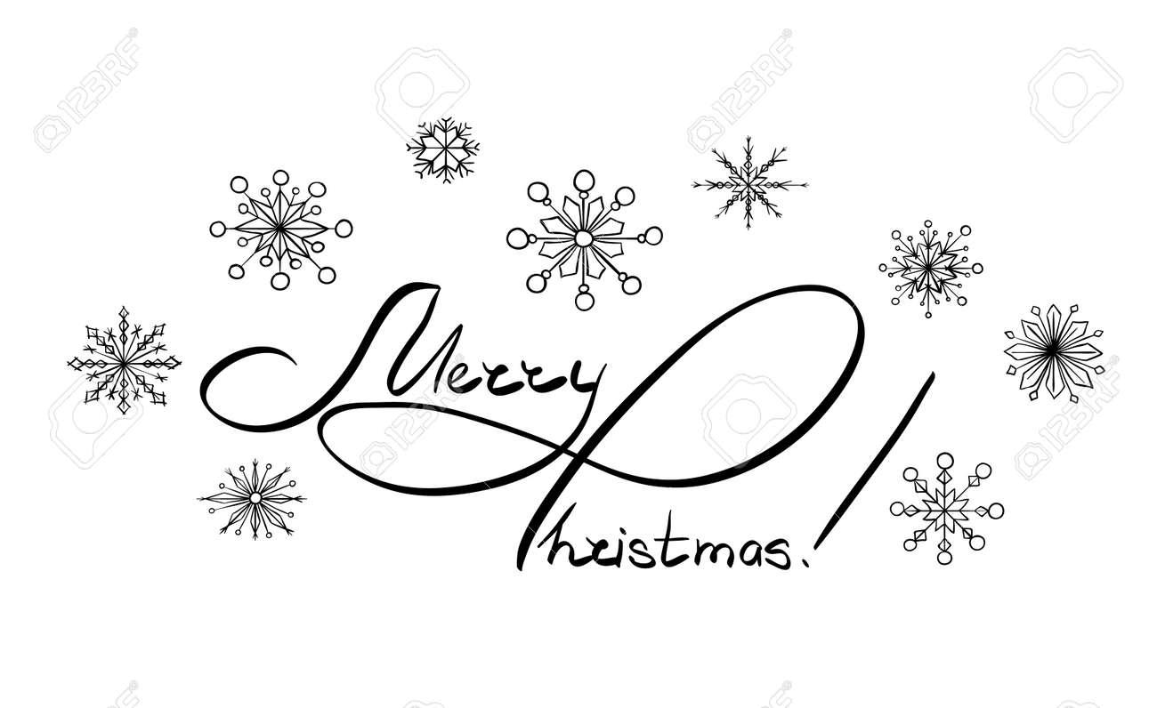 Weihnachten Schwarz Weiß Bilder.Stock Photo