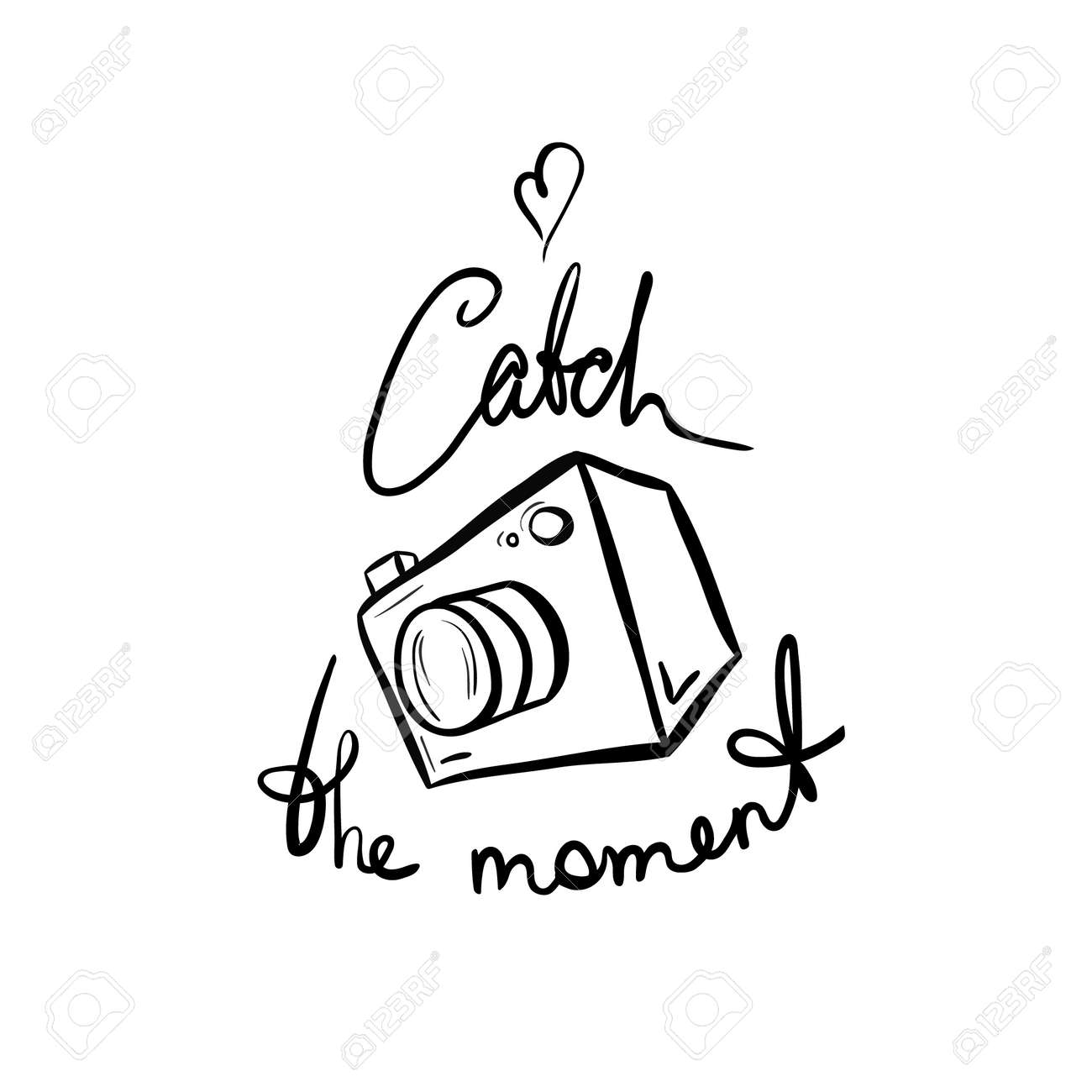 Illustration Of A Camera Catch The Moment Take Photo Picture