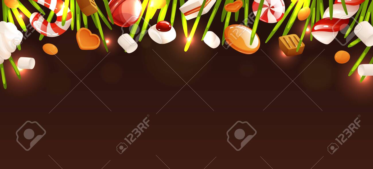 Empty Background Template New Year And Christmas Theme Candies Royalty Free Cliparts Vectors And Stock Illustration Image 134834289 Hd & 4k quality free for commercial use ready to download. 123rf com