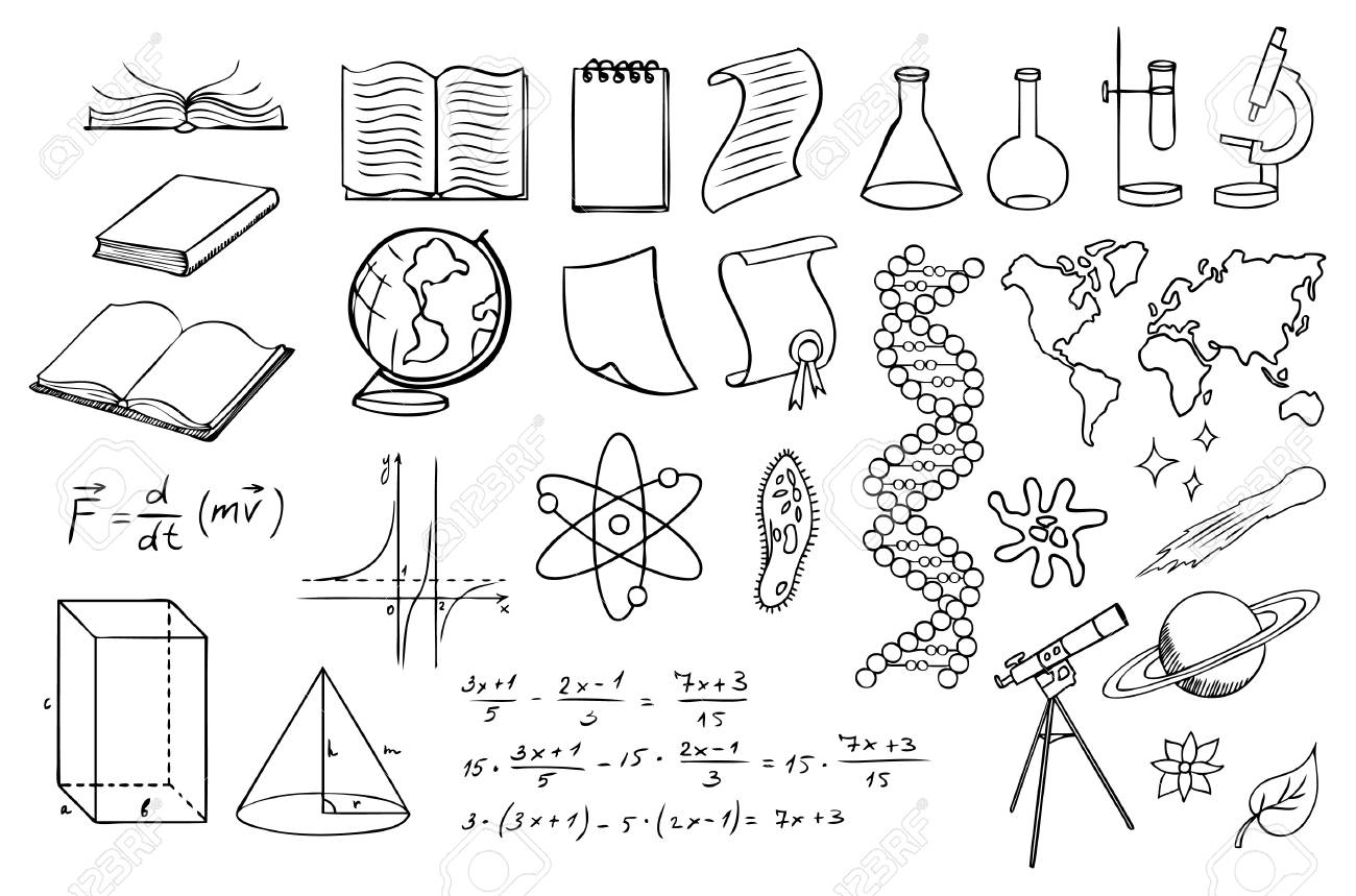 science and education vector set Stock Vector - 9932543