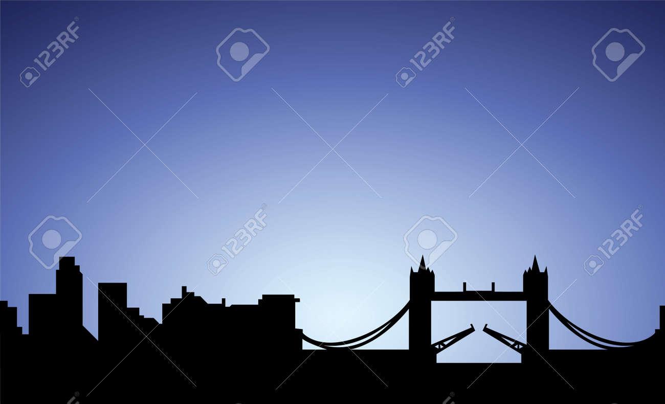 silhouette of London city, England, vector Stock Vector - 10138642